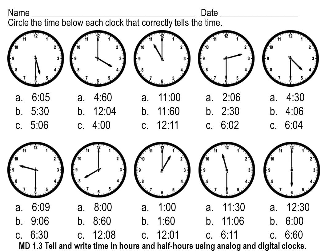 16 Best Images Of Cut And Paste Telling Time Worksheets