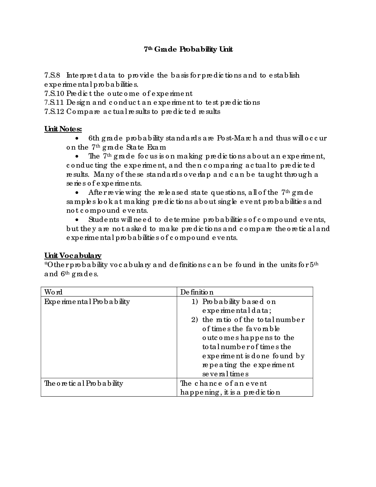 7th Grade Probability Worksheet