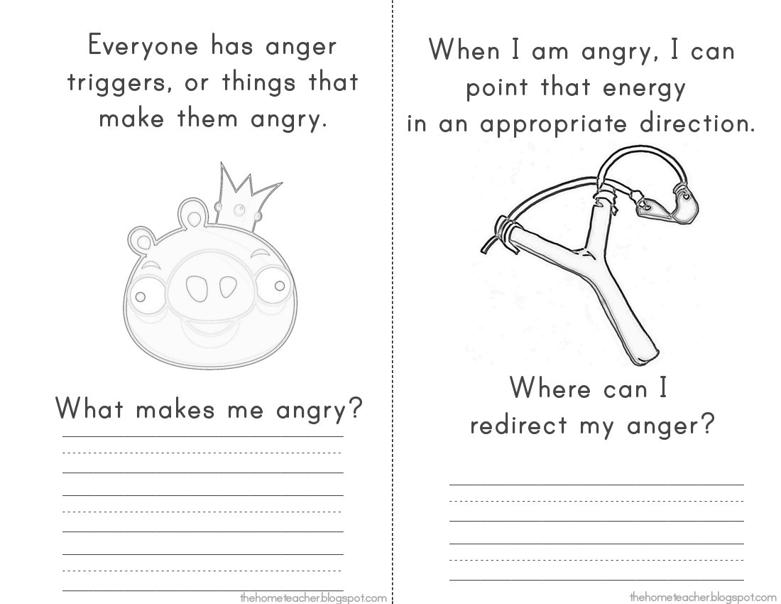 17 Best Images Of Dealing With Anger Worksheets