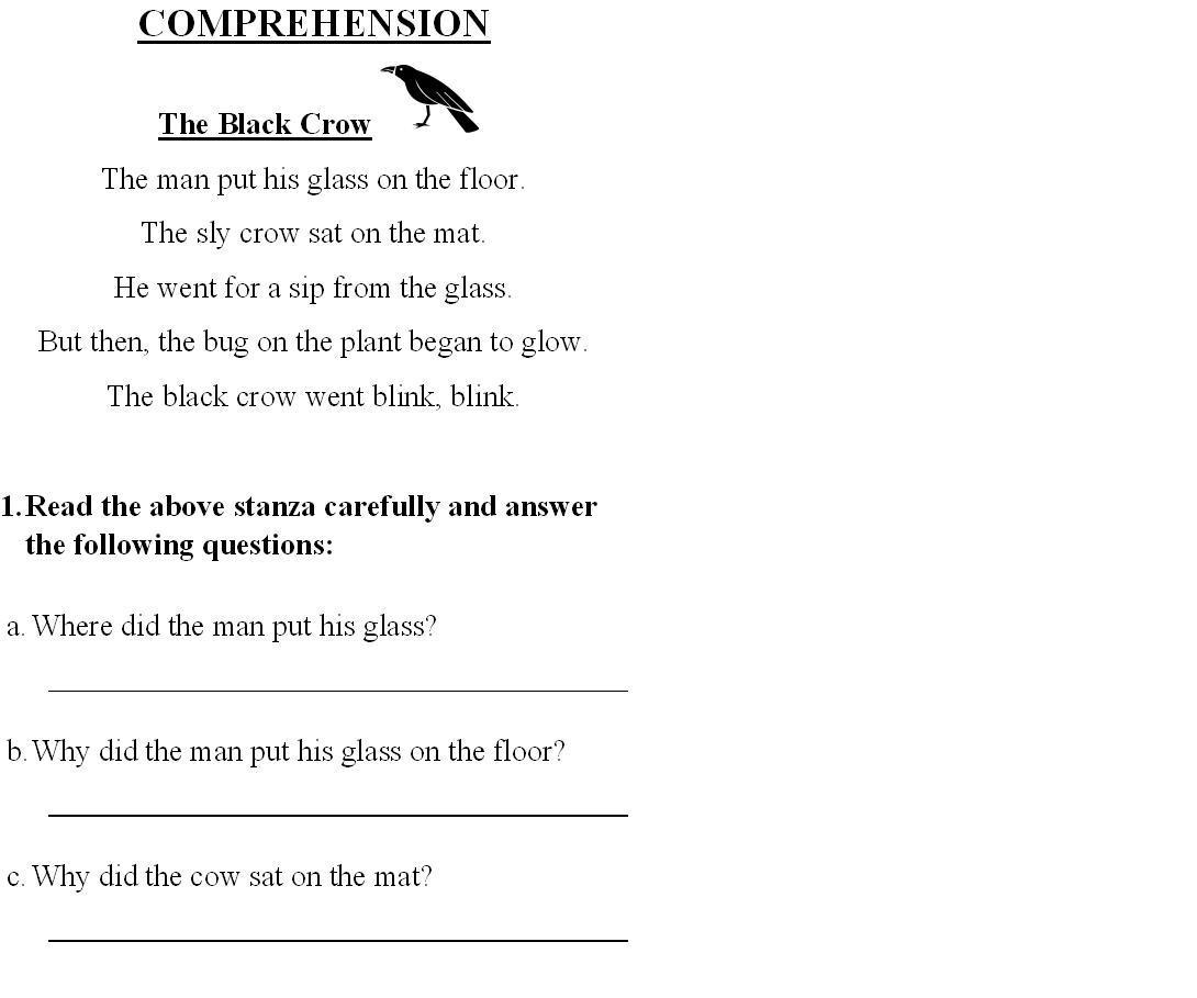 7 Best Images Of English Worksheets For Grade 1