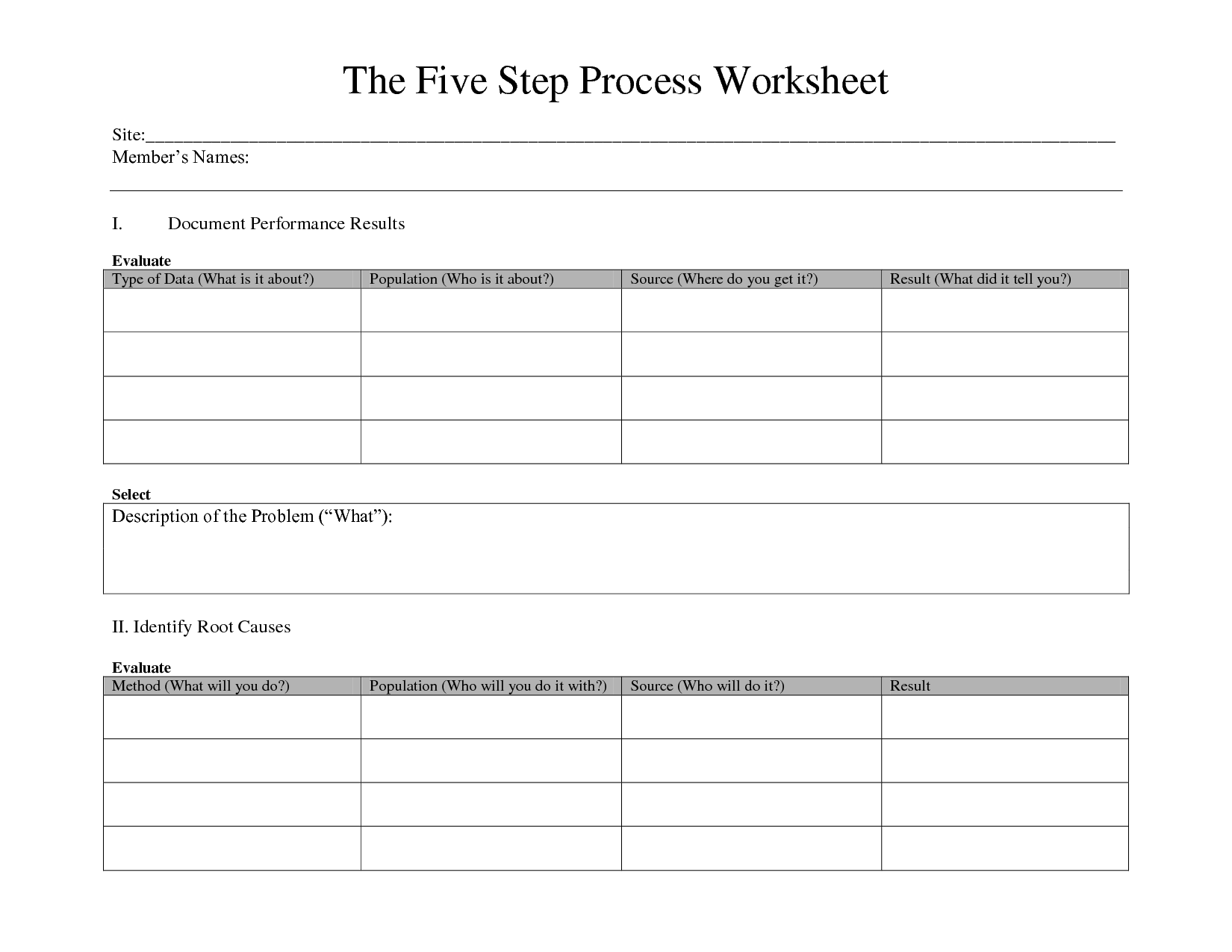 12 Step Worksheet Writing