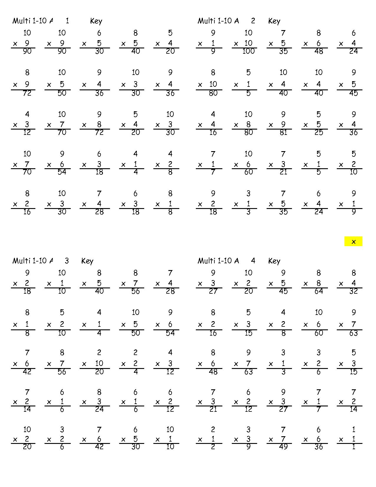 15 Best Images Of 1 Digit Multiplication Worksheets 4th
