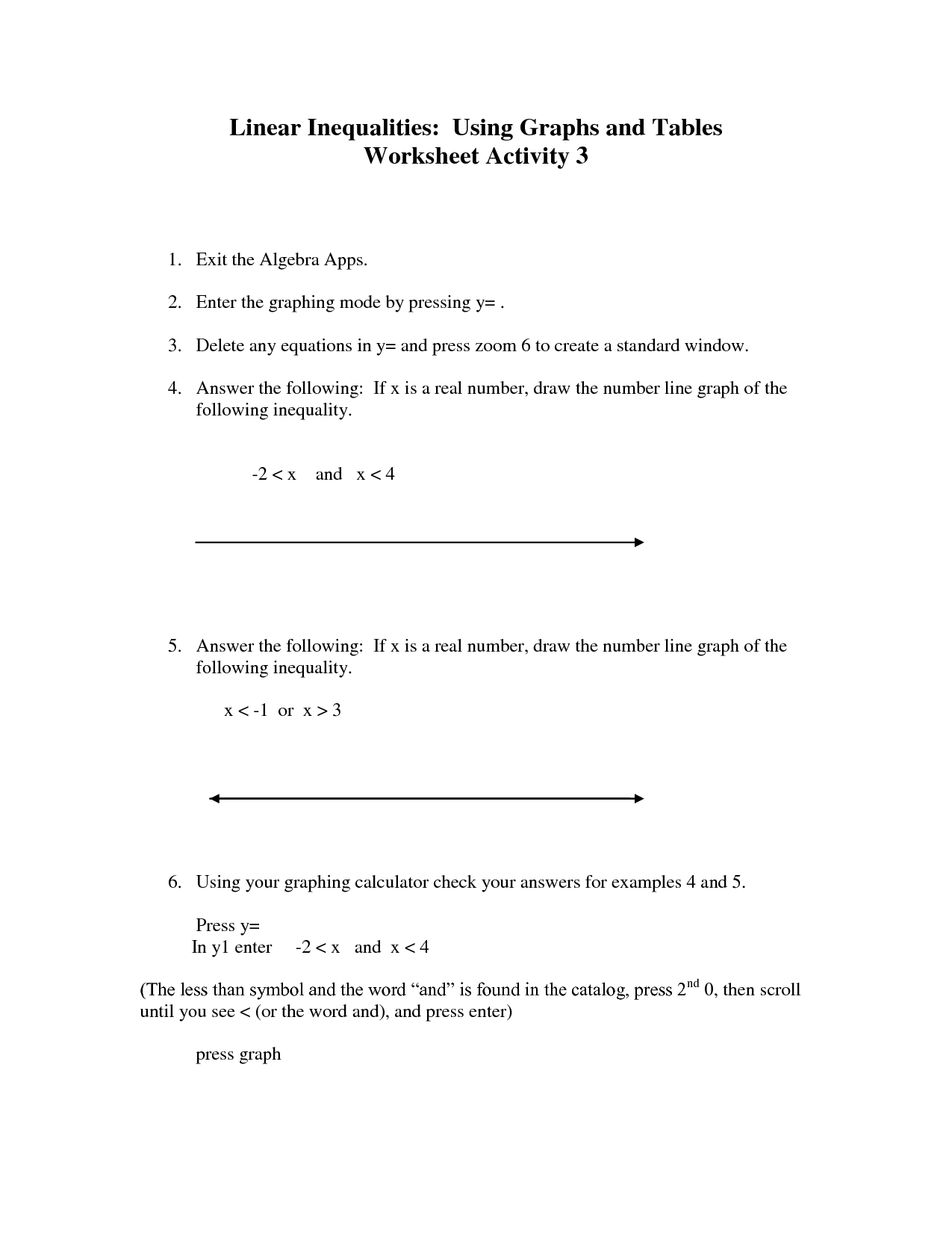Systems Of Linear And Quadratic Equations Worksheet