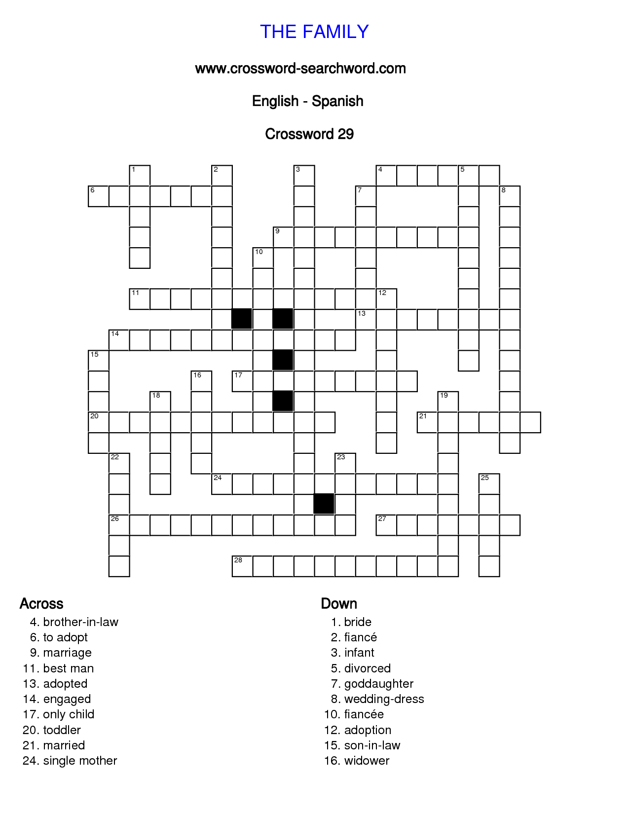 19 Best Images Of Spanish Puzzle Worksheets