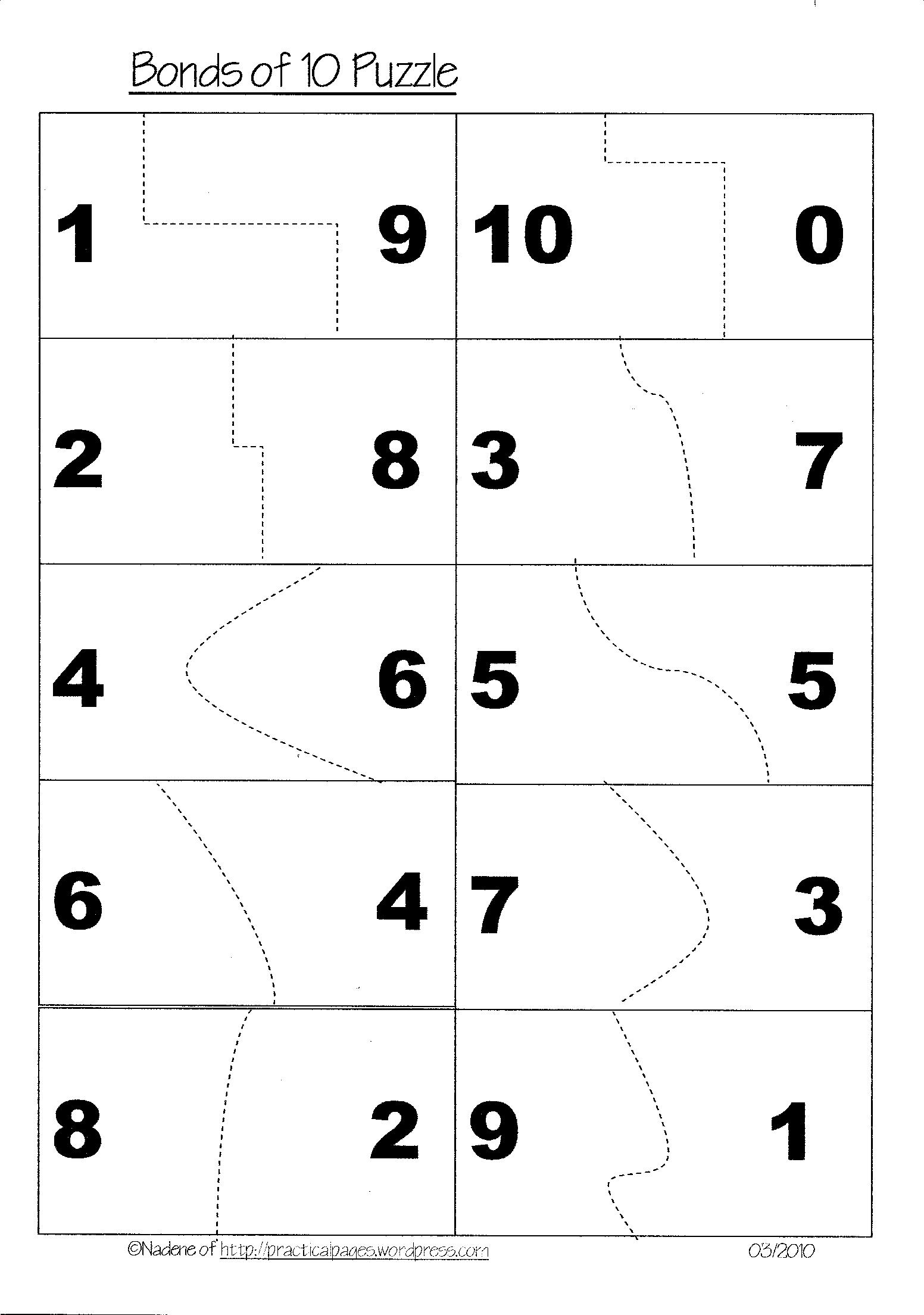 14 Best Images Of Math Number Bonds Worksheets