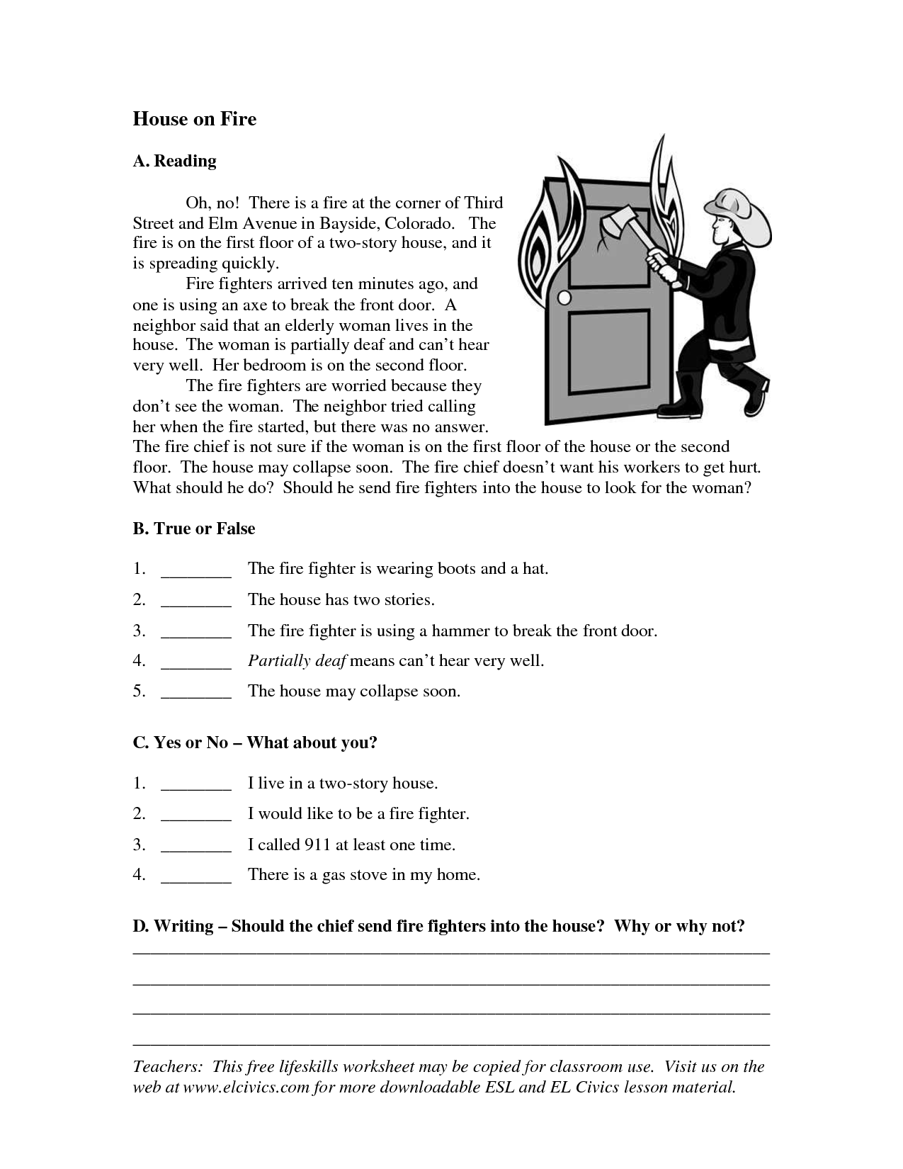 Esl Worksheet In On At