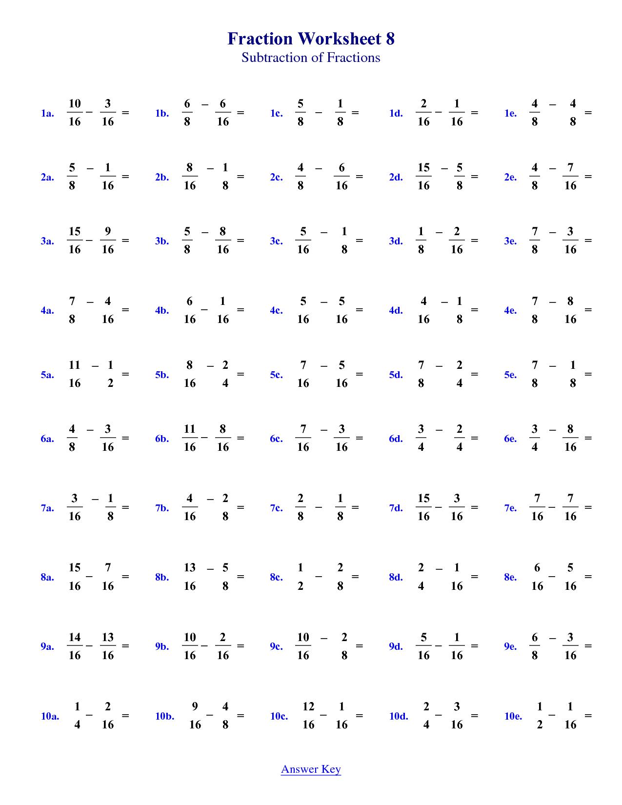Basic Algebra Worksheet 4th