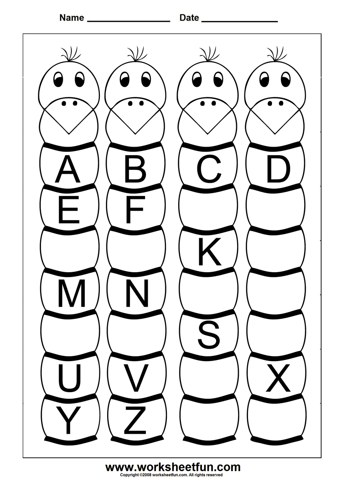16 Best Images Of Missing Letter Worksheets Small Letters