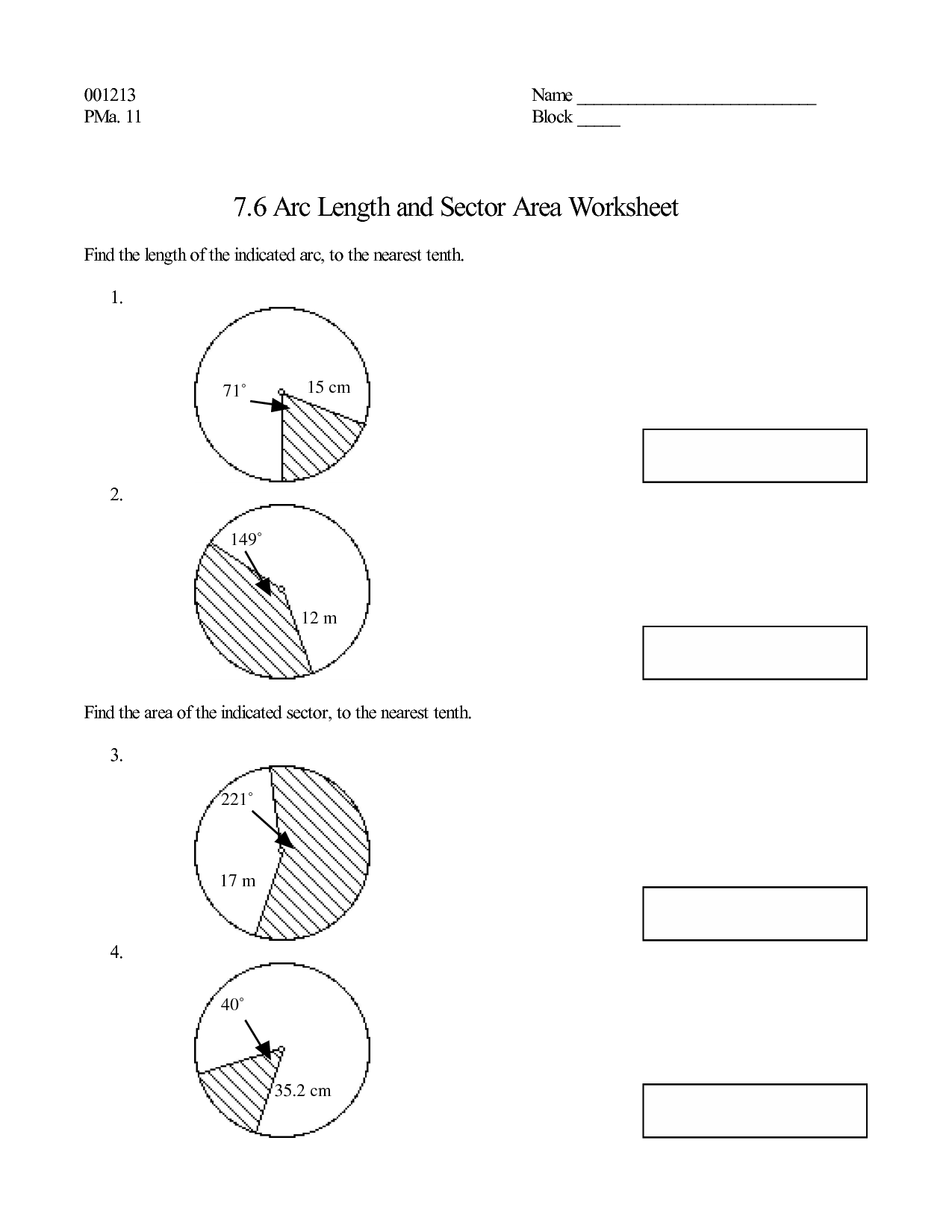 12 Best Images Of Area Of A Circle Worksheet