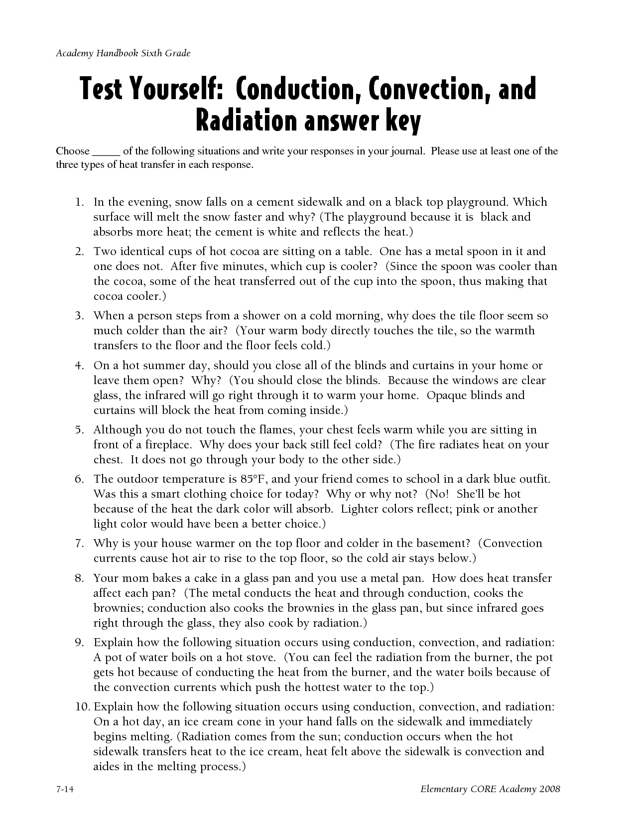 27 Heat Transfer Worksheet Answer Key