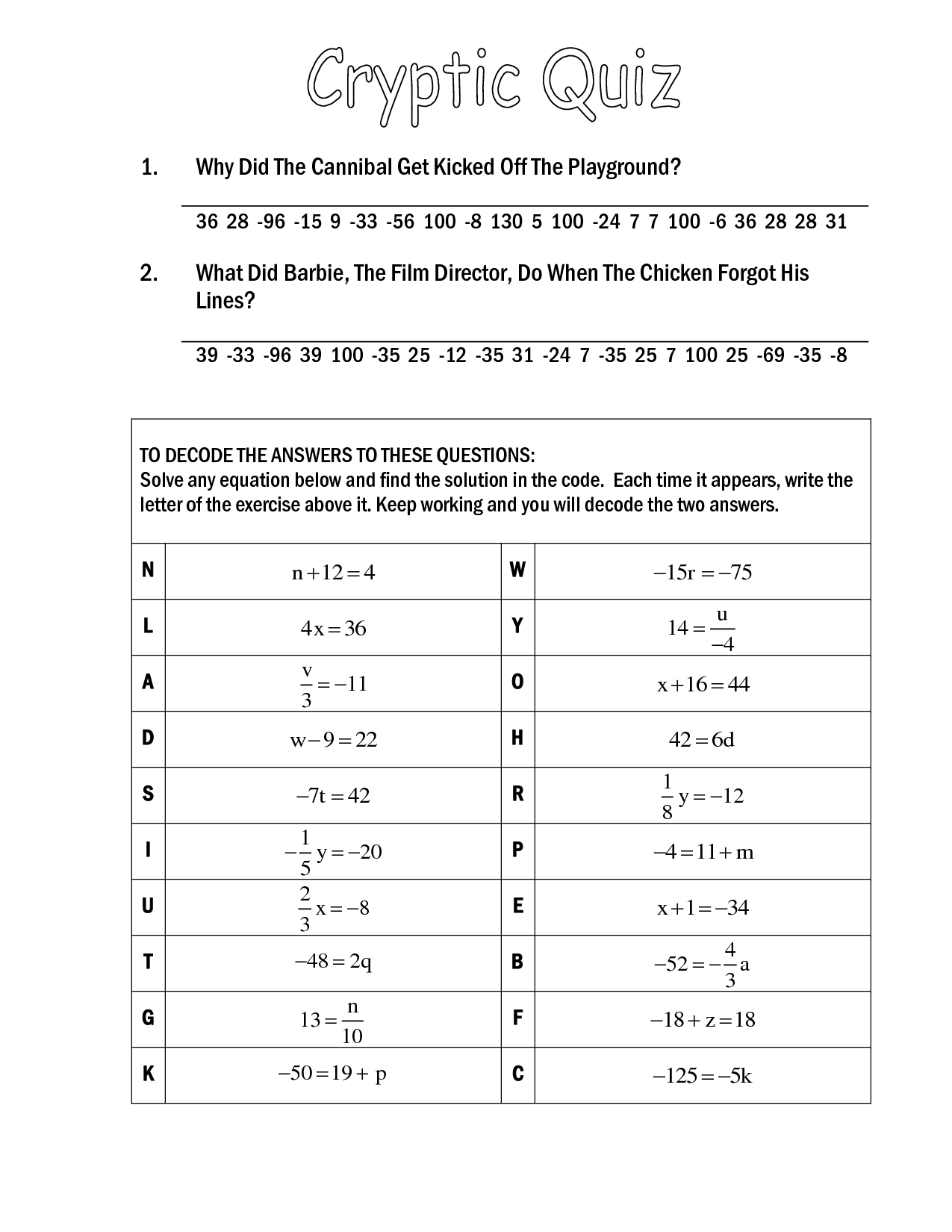 14 Best Images Of Did You Here About Math Worksheet Answer