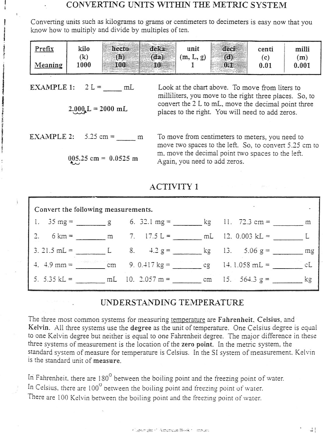 High School Science Worksheet Packets