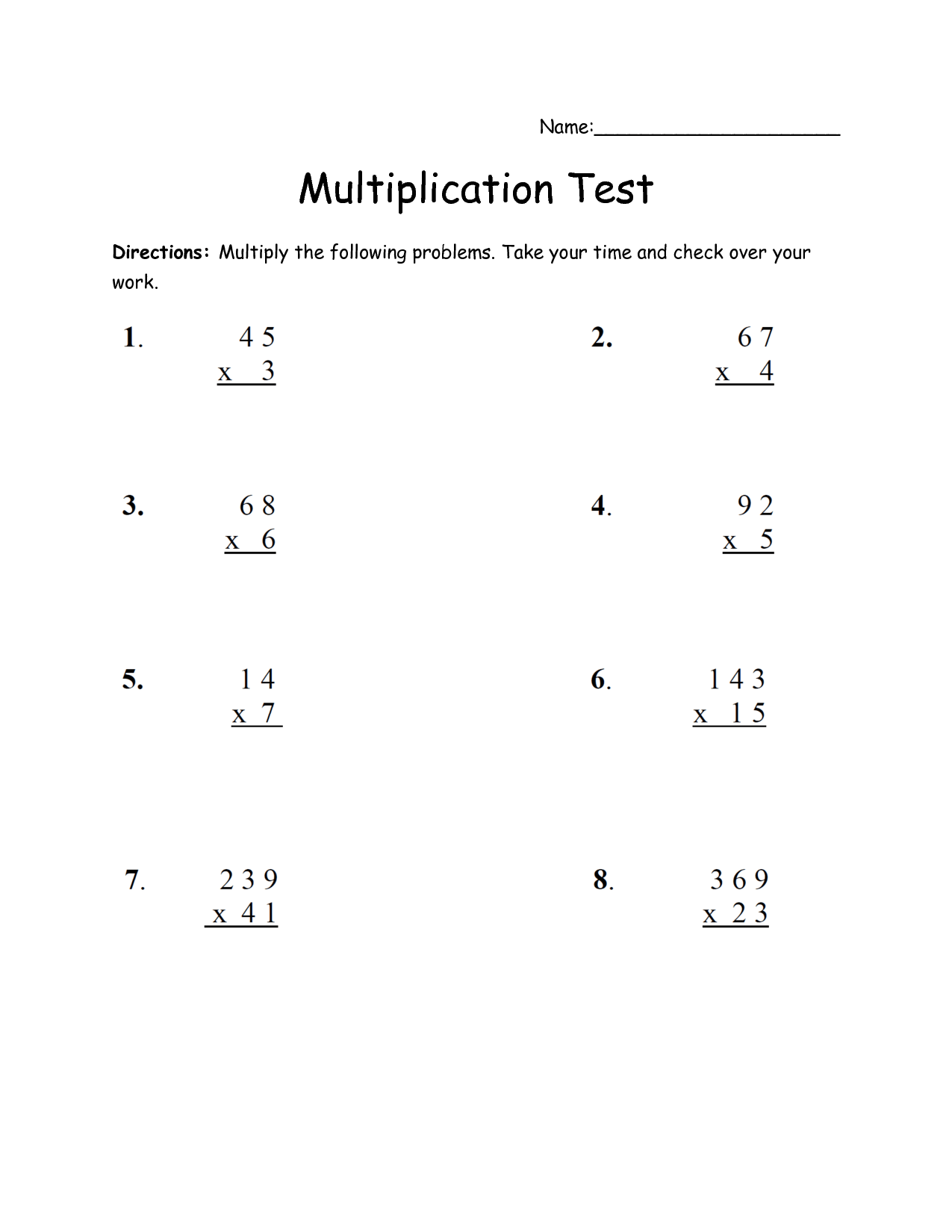 13 Best Images Of Multiplying Double Digits Worksheets
