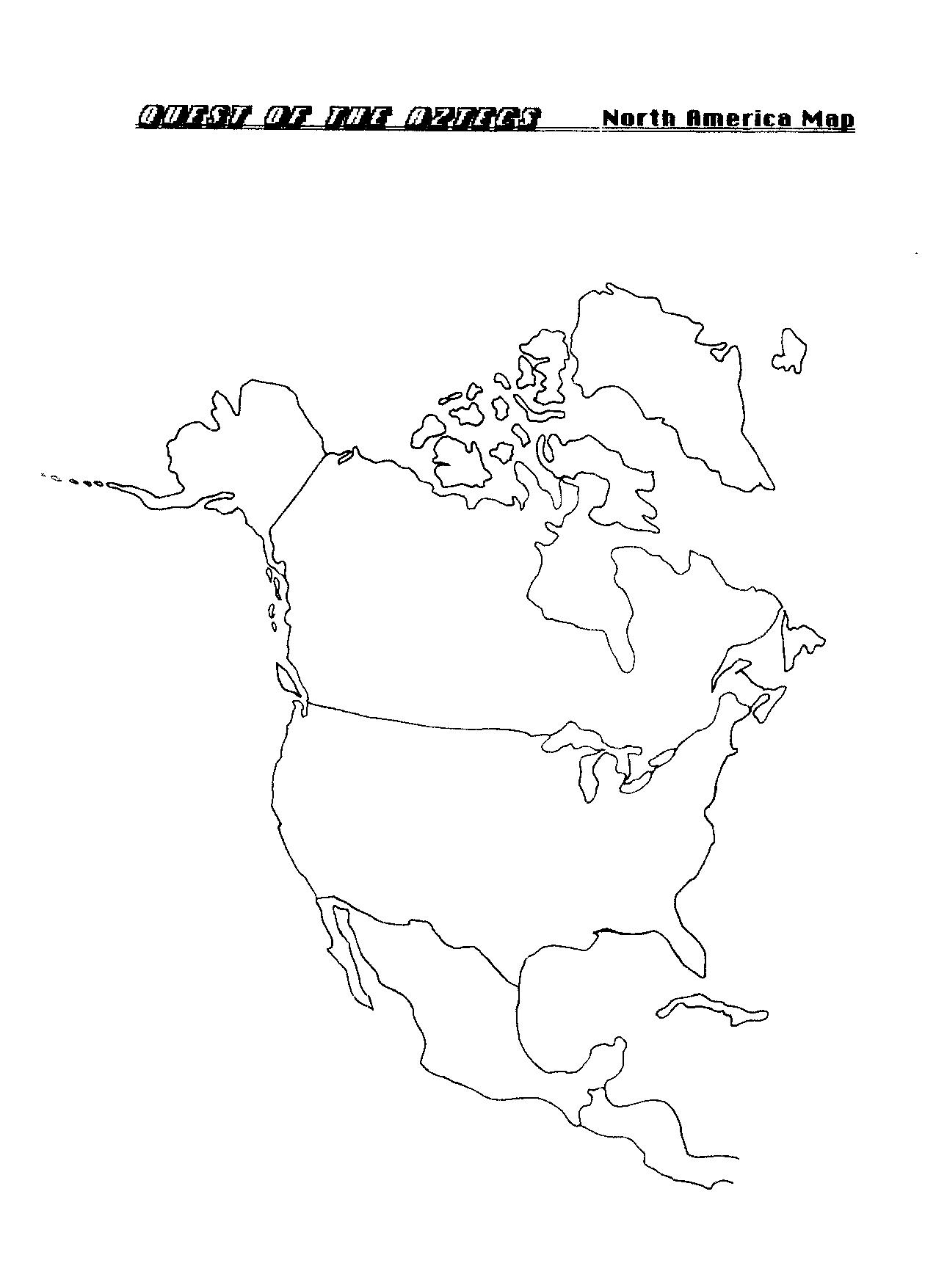 11 Best Images Of North America Map Quiz Worksheet