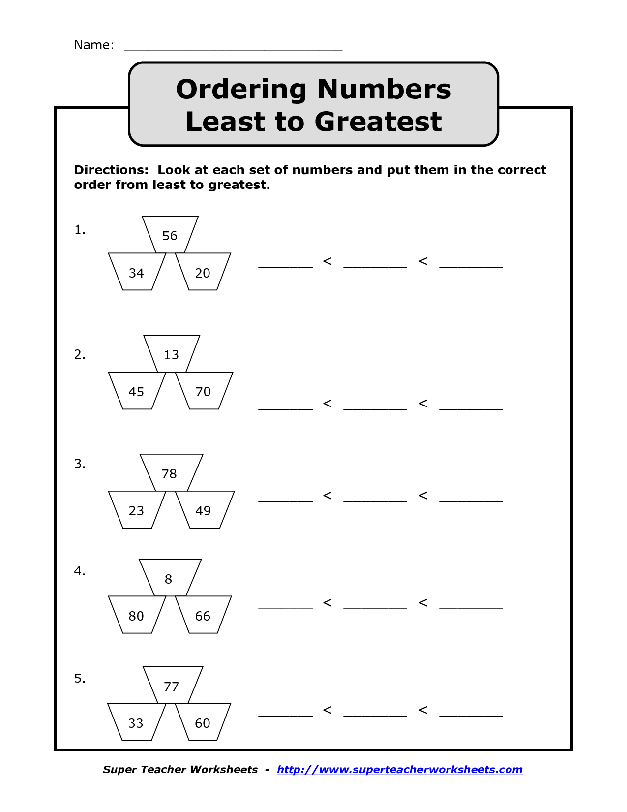 10 Best Images Of Ordering 4 Digit Numbers Worksheet