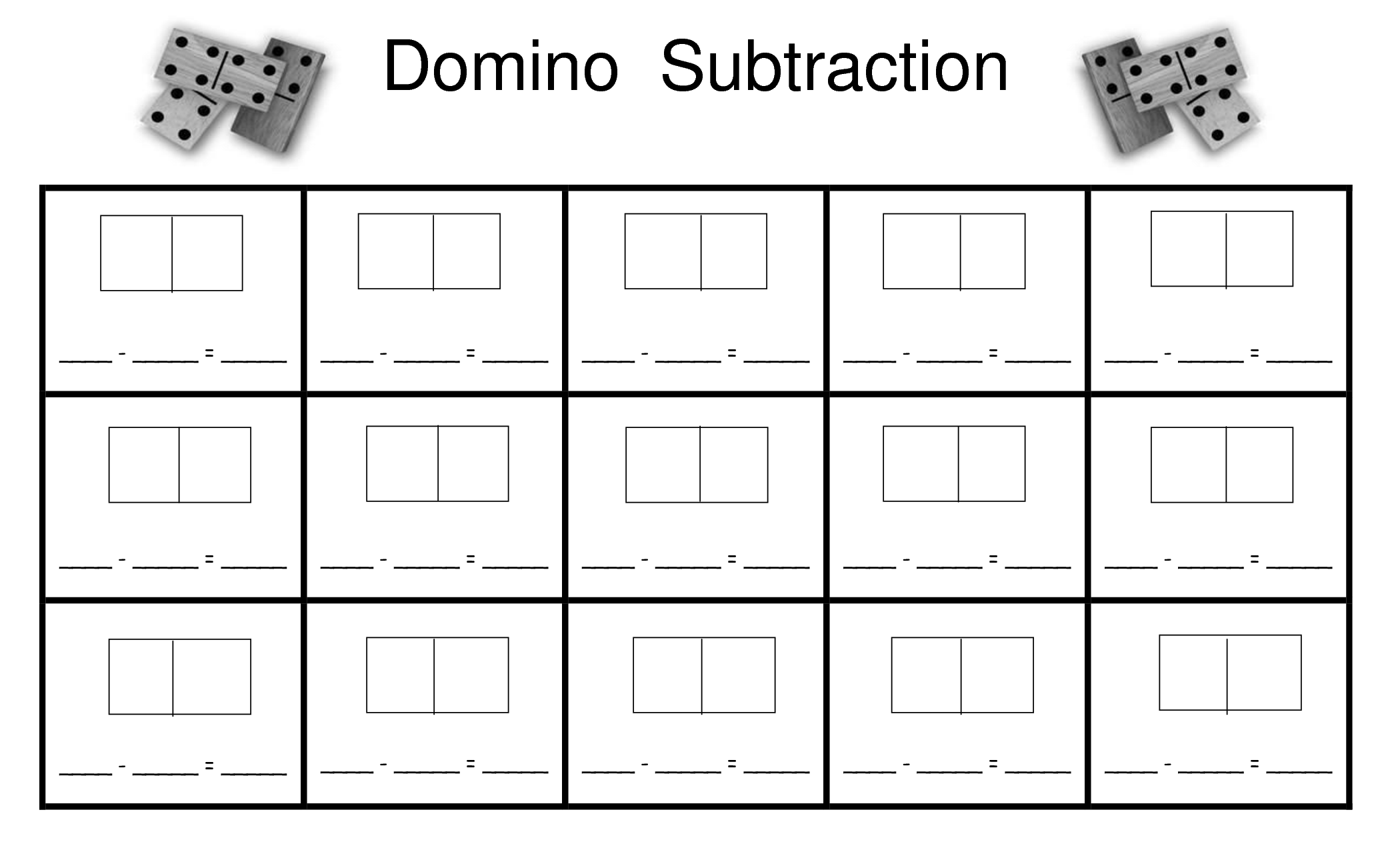 Addition Activities With Dominoes