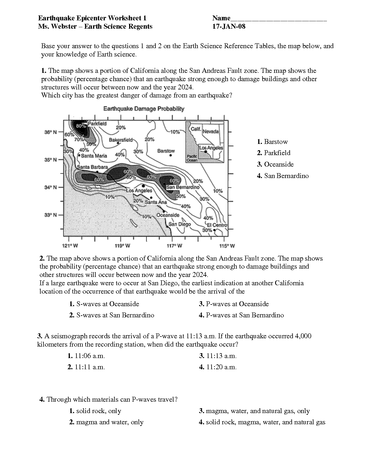 14 Best Images Of High School Geography Skills Worksheets