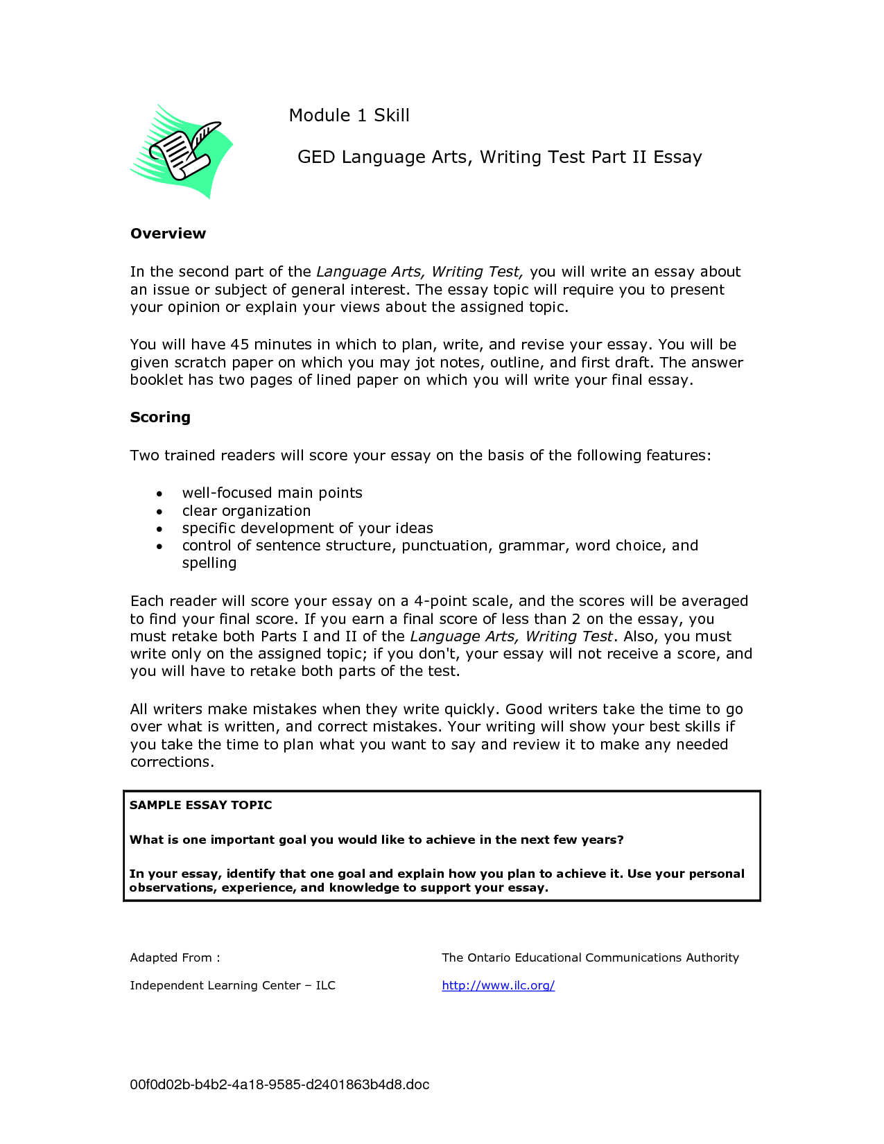 Ged Essay Help Ged Essay Tips Amp Strategies