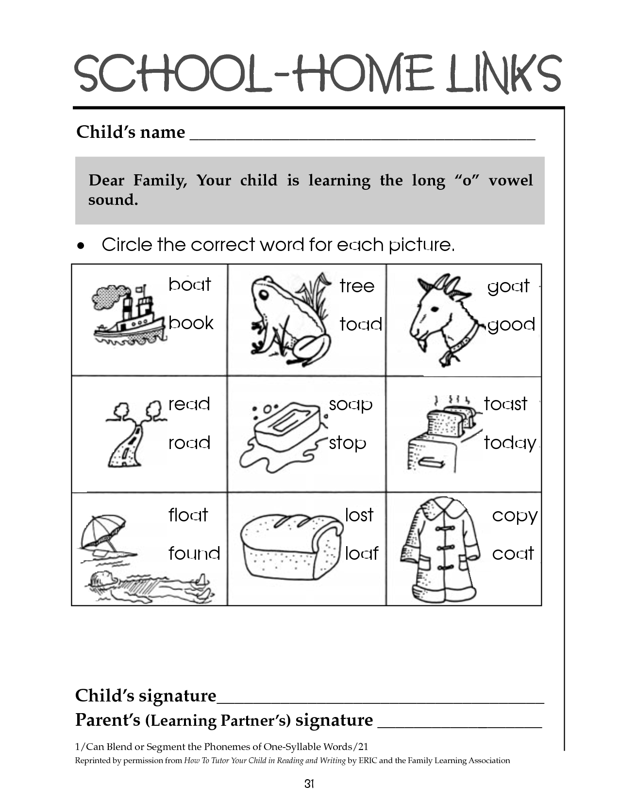 12 Best Images Of Worksheets Long O