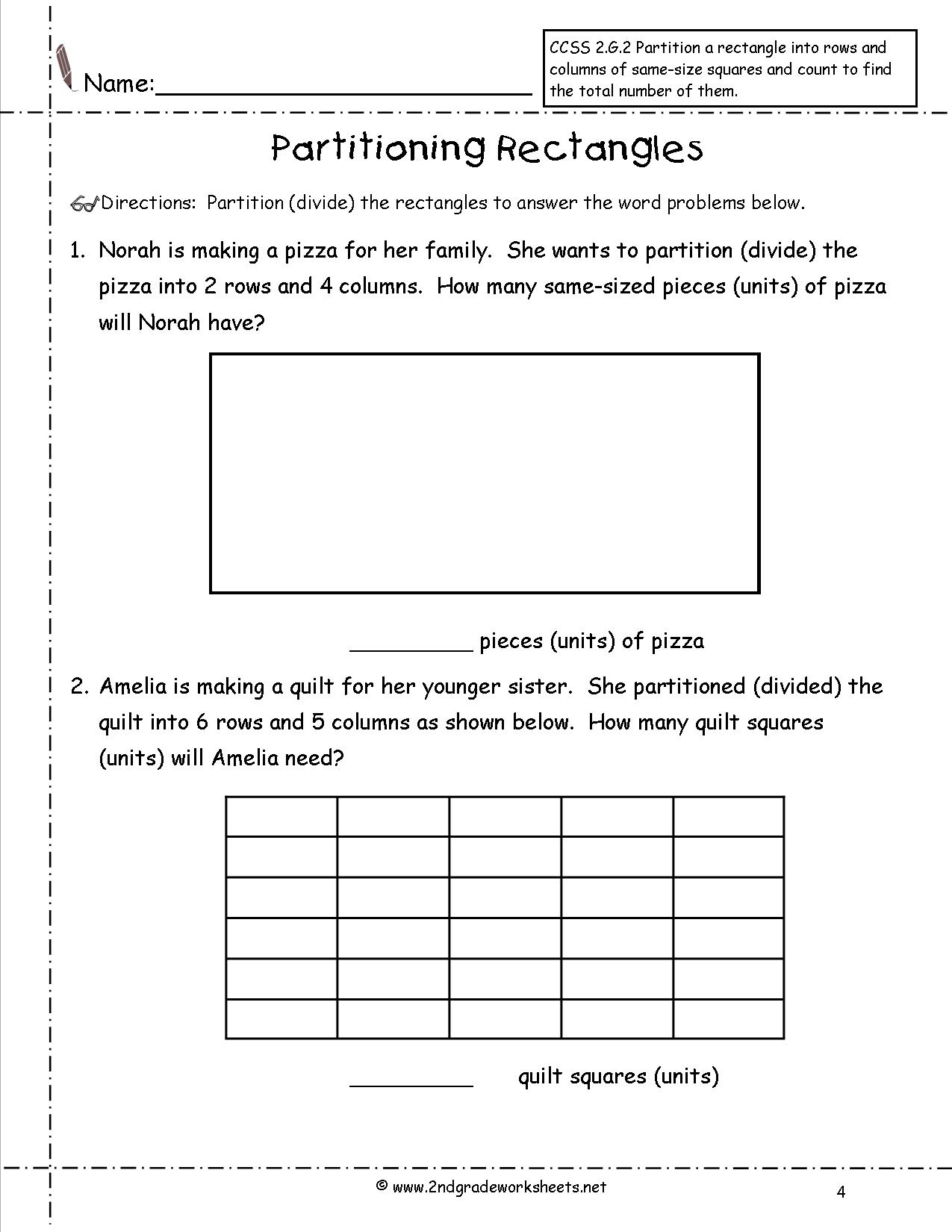 16 Best Images Of Halves Thirds Fourths Worksheets