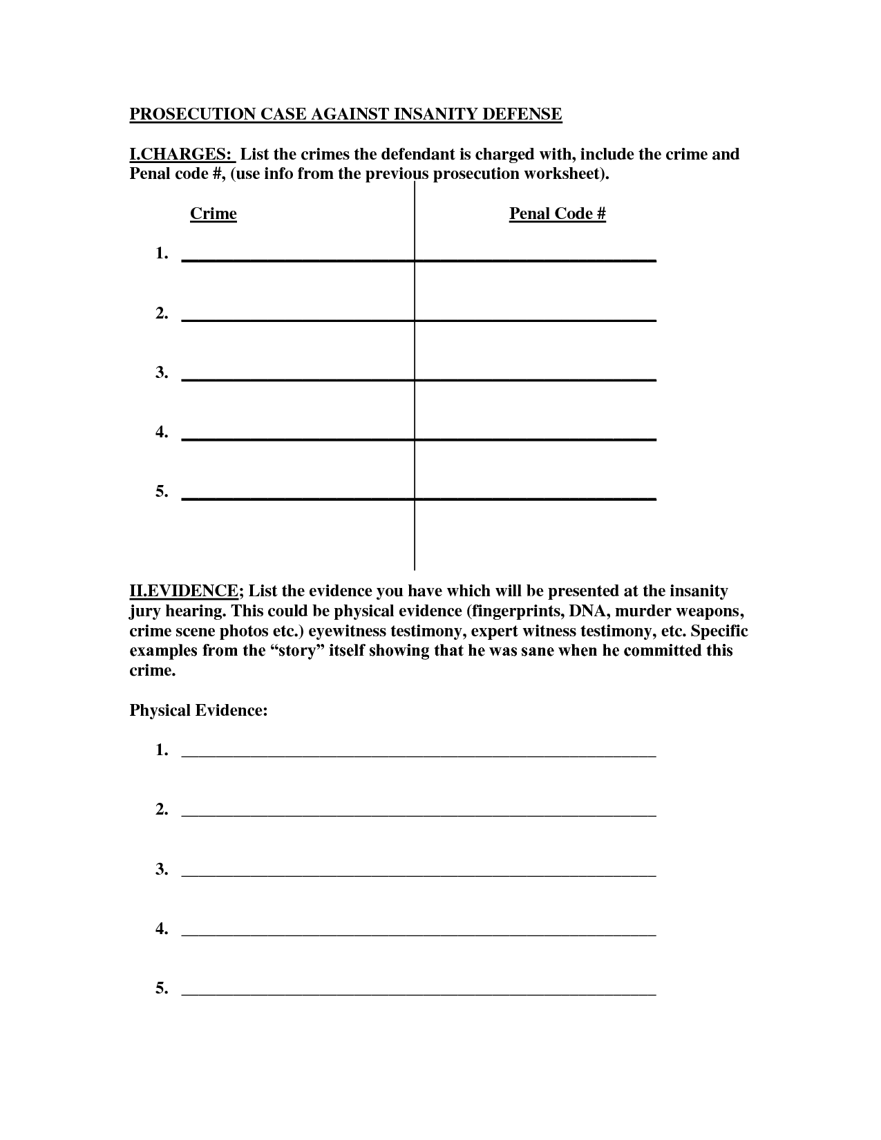 16 Best Images Of Crime Scene Evidence Worksheet