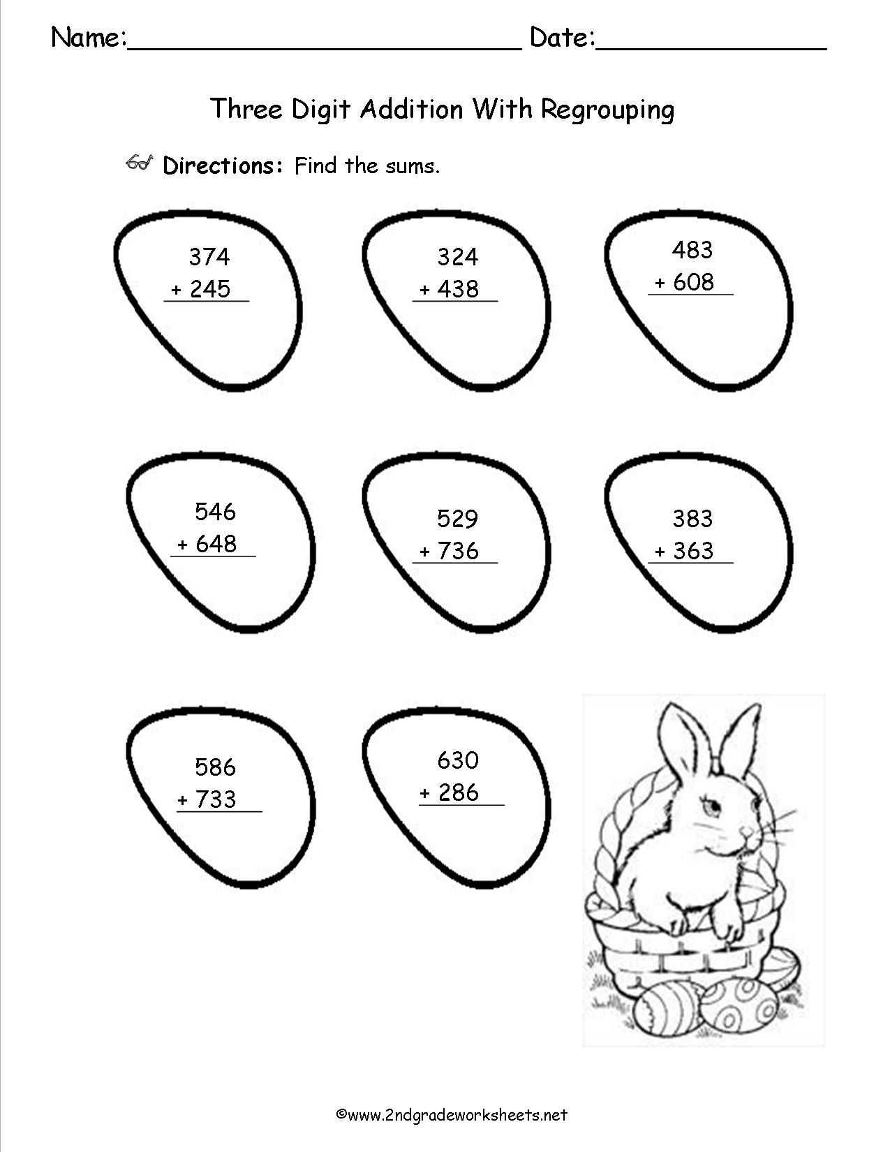 16 Best Images Of Two Digit Worksheets Without Regrouping