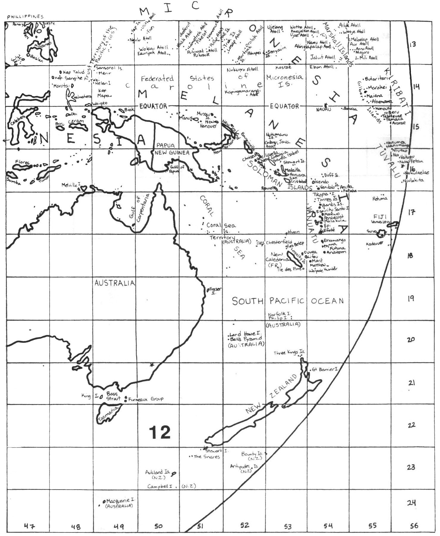 Black And White World Map With Latitude And Longitude