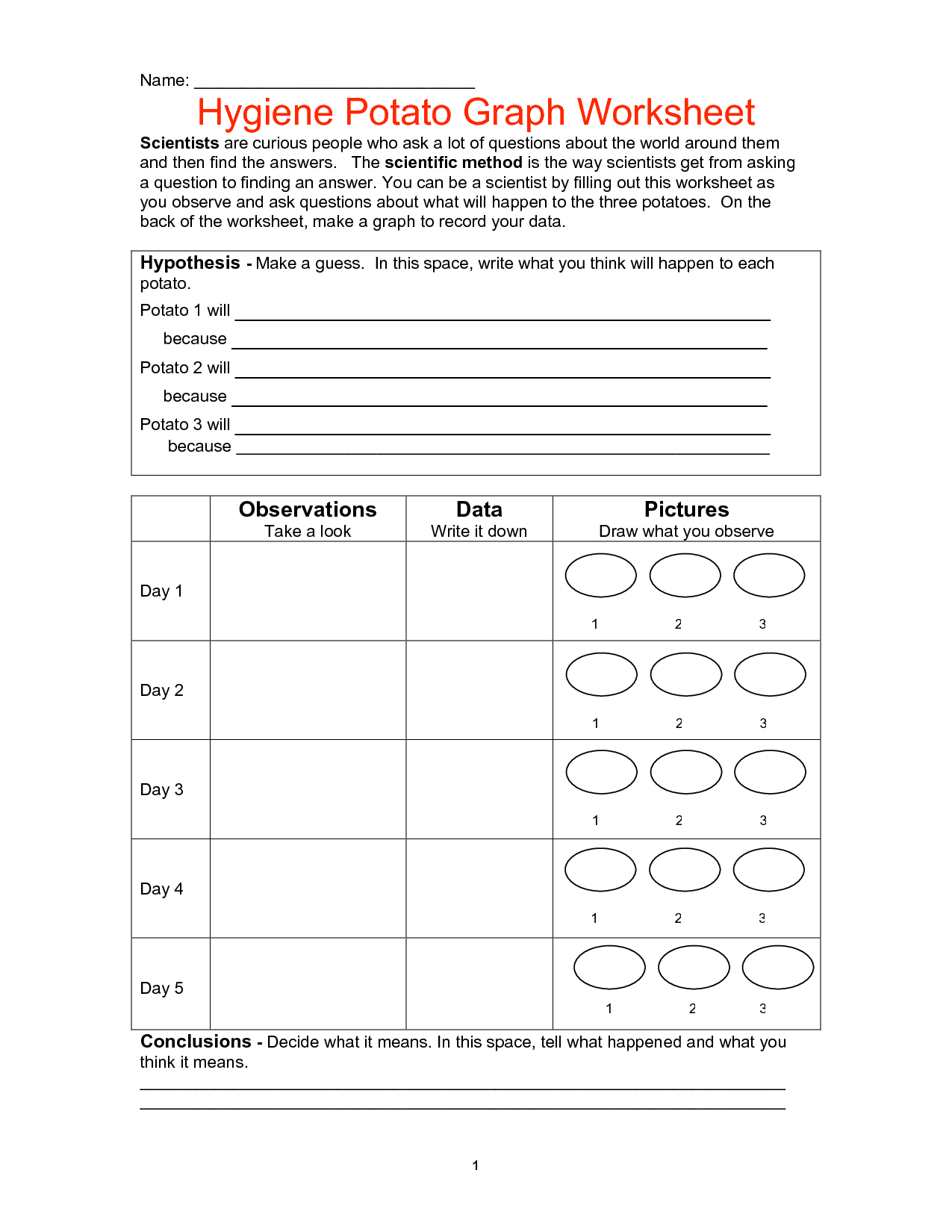 16 Best Images Of Teaching Hygiene Worksheets