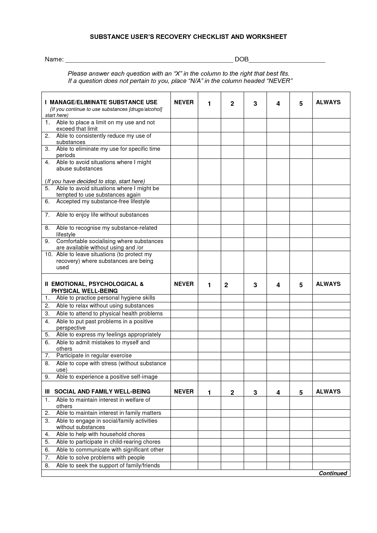 20 Best Images Of Identifying Relapse Triggers Worksheet