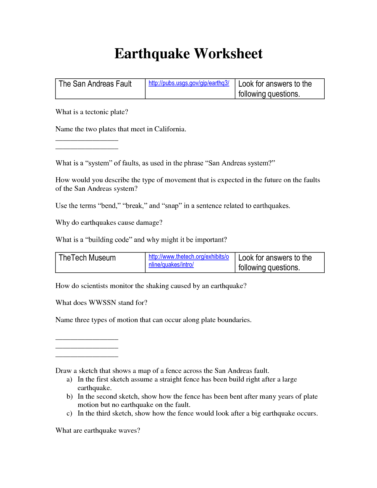 Volcanoes Worksheet With Answers