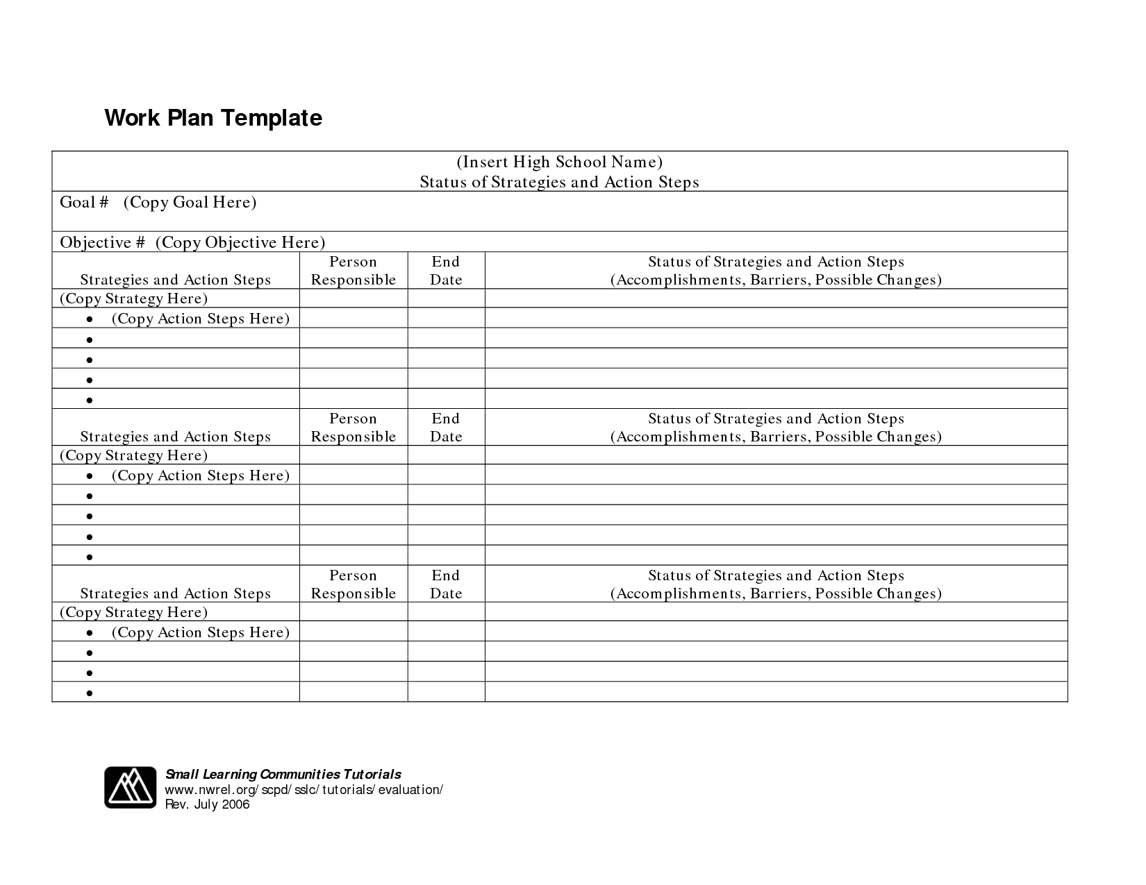 16 Best Images Of Free Action Plan Worksheet