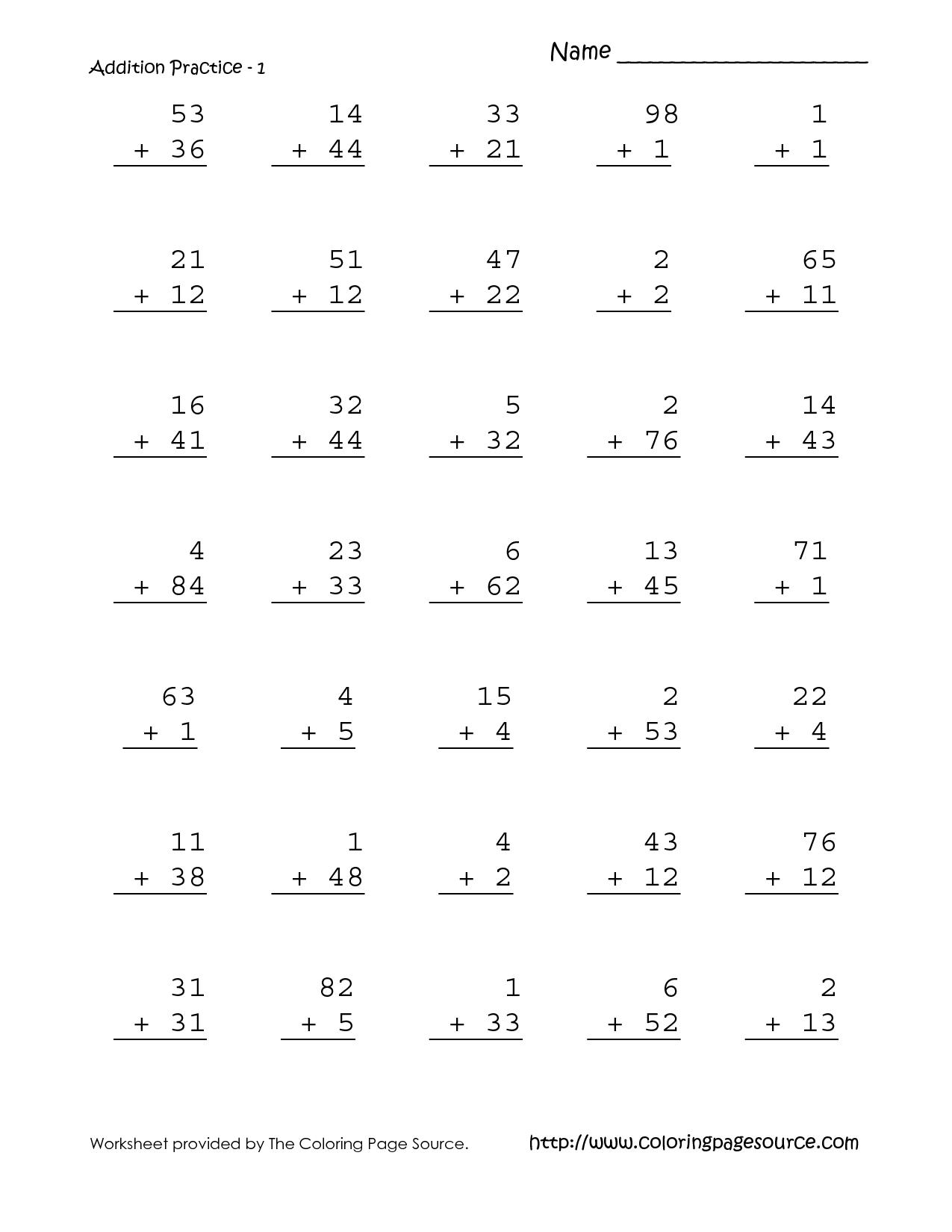 10 Best Images Of Easy 1st Grade Math Worksheets