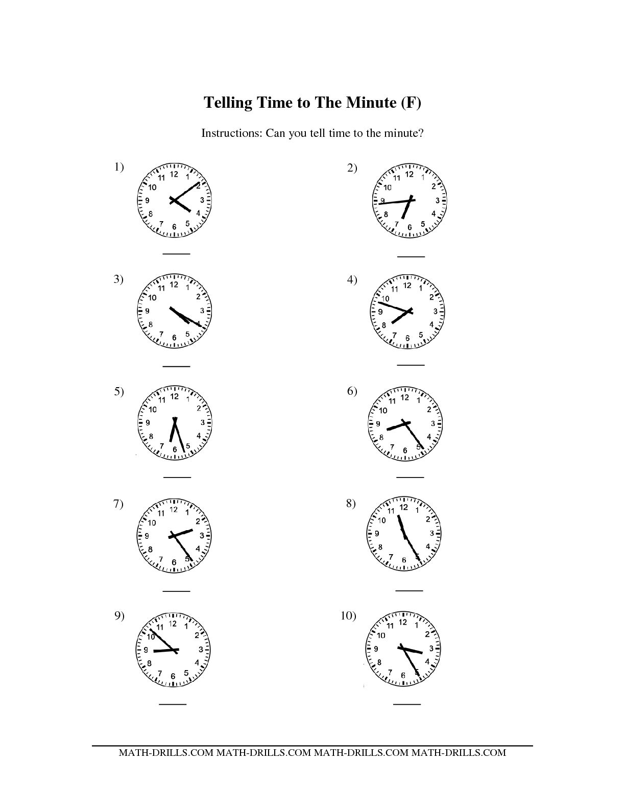 15 Best Images Of Telling Time Worksheet