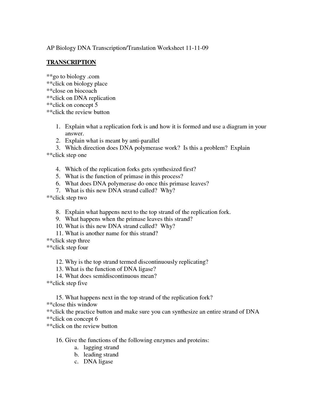 17 Best Images Of Dna Structure Worksheet Answer Key