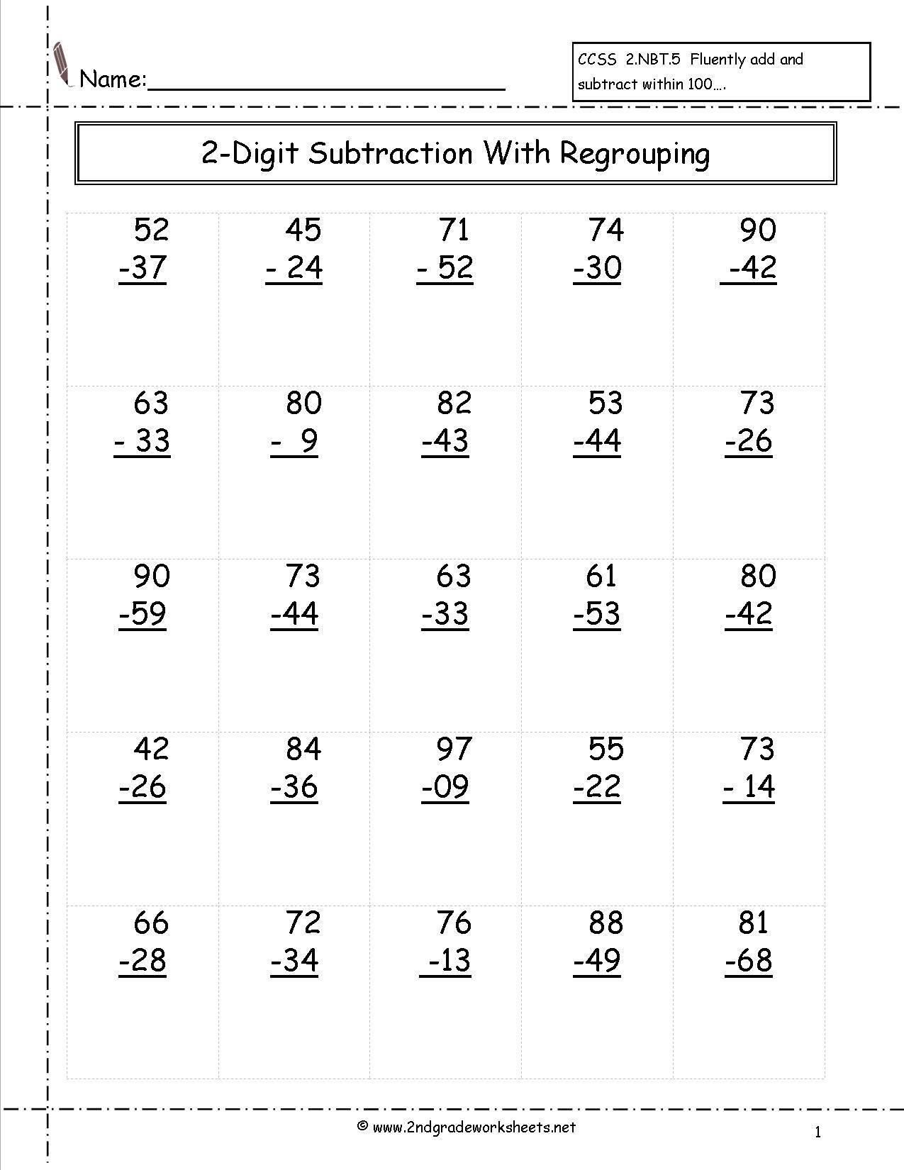 12 Best Images Of 2 Math Worksheets