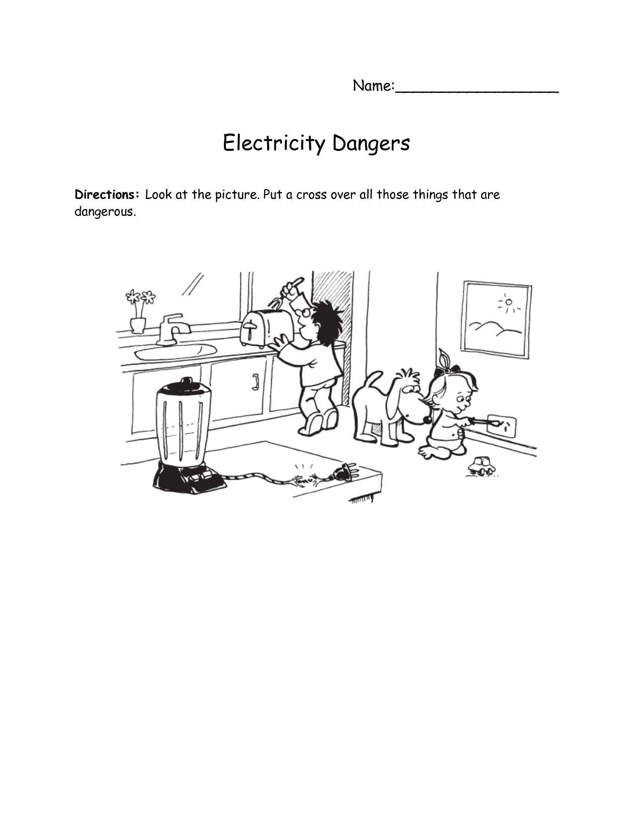 11 Best Images Of Home Safety Worksheets