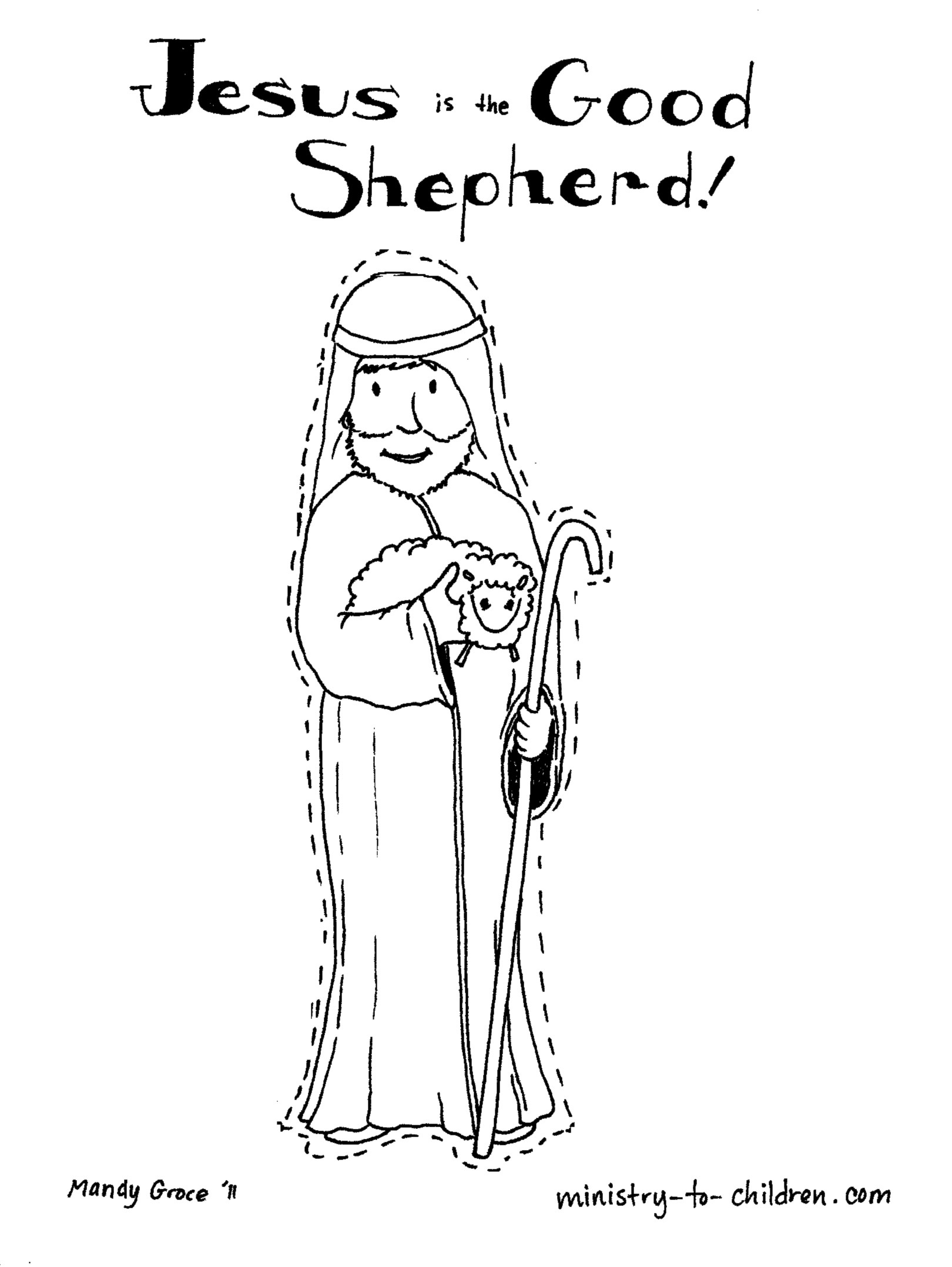 Printable Coloring Pages Biblical Shepherds