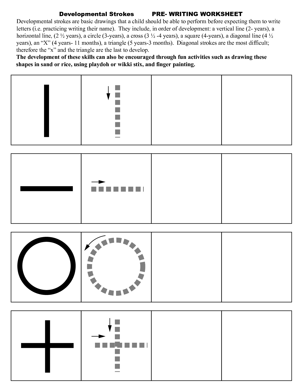 13 Best Images Of Worksheets Pre Writing Strokes