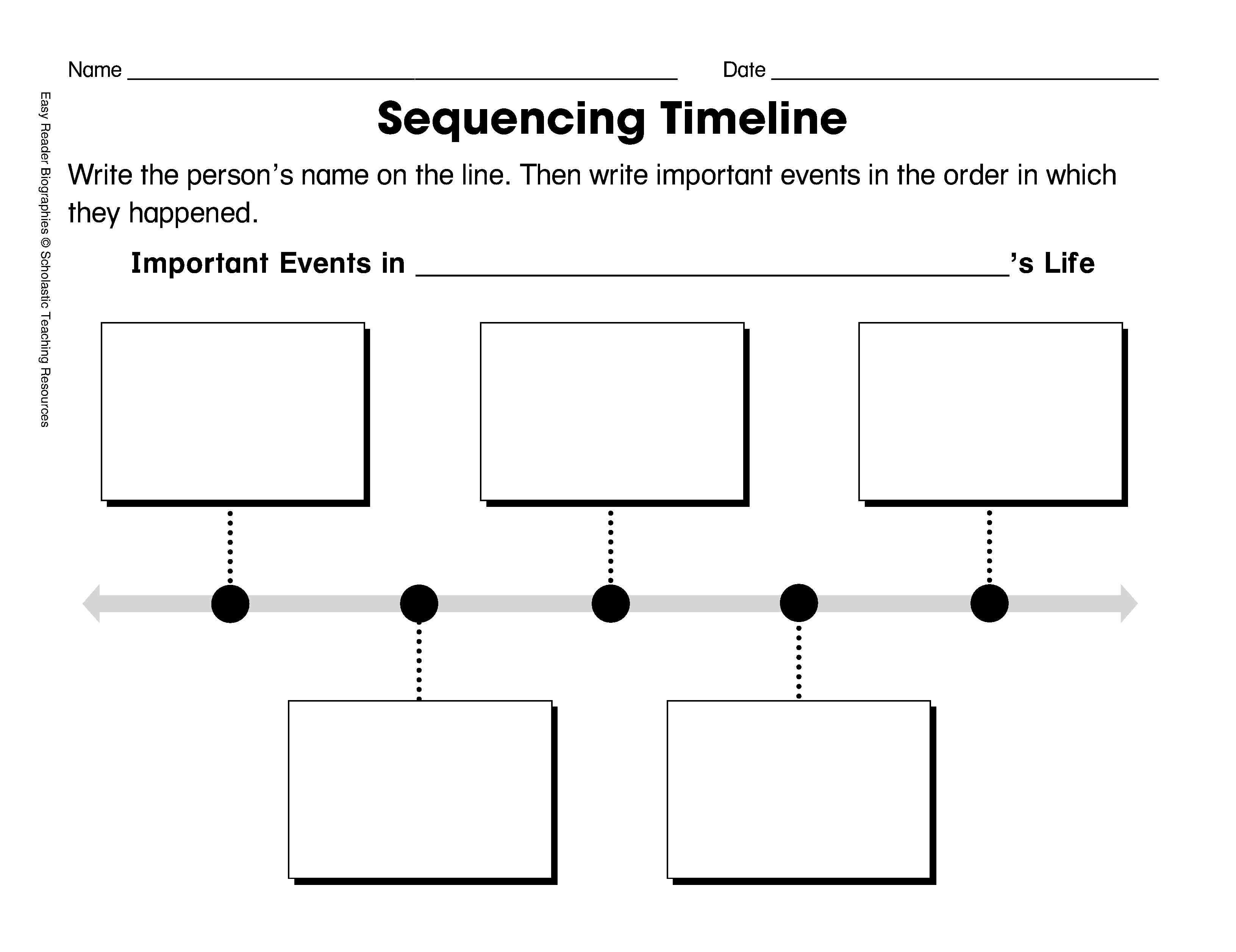15 Best Images Of First Grade Timeline Worksheets
