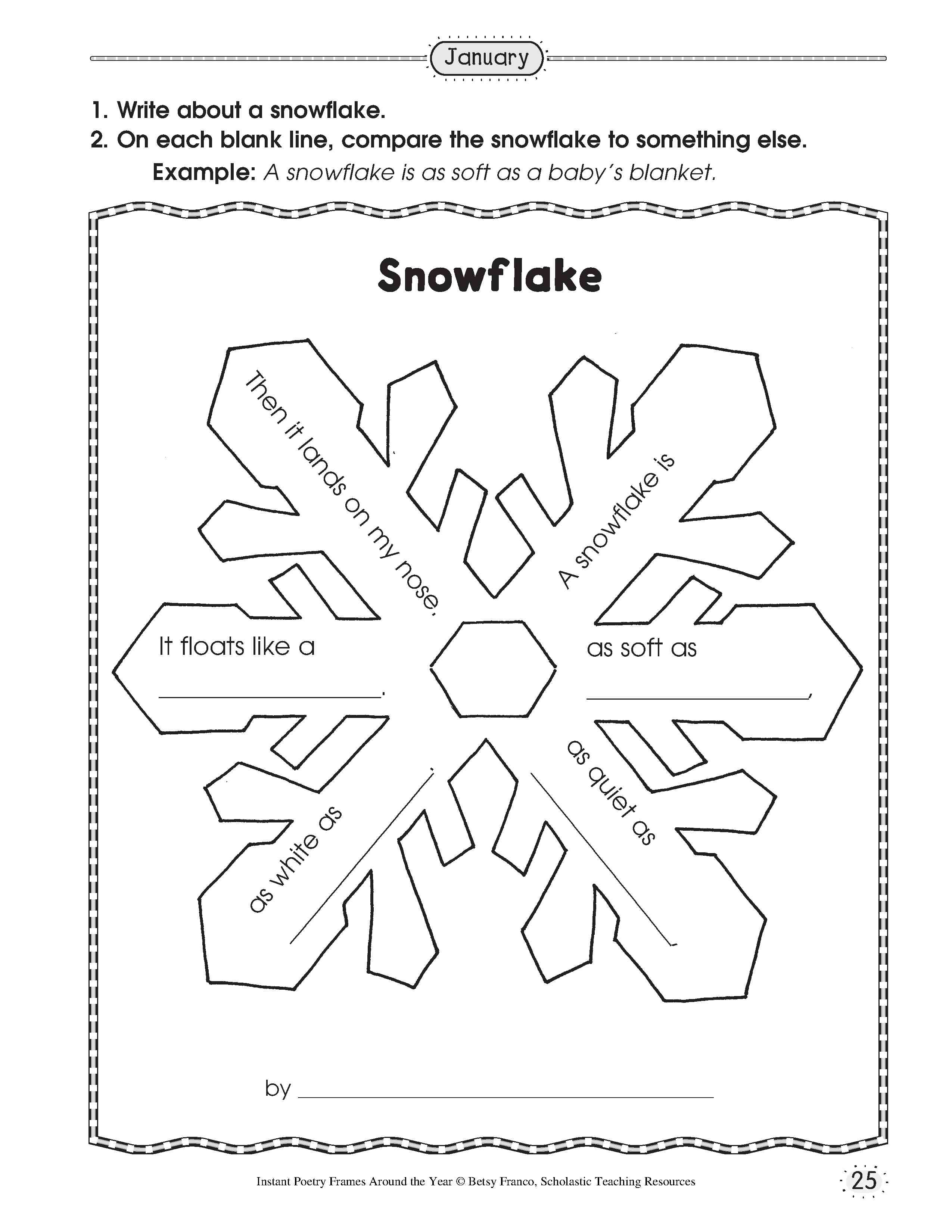 13 Best Images Of Snow Worksheets For Kindergarten