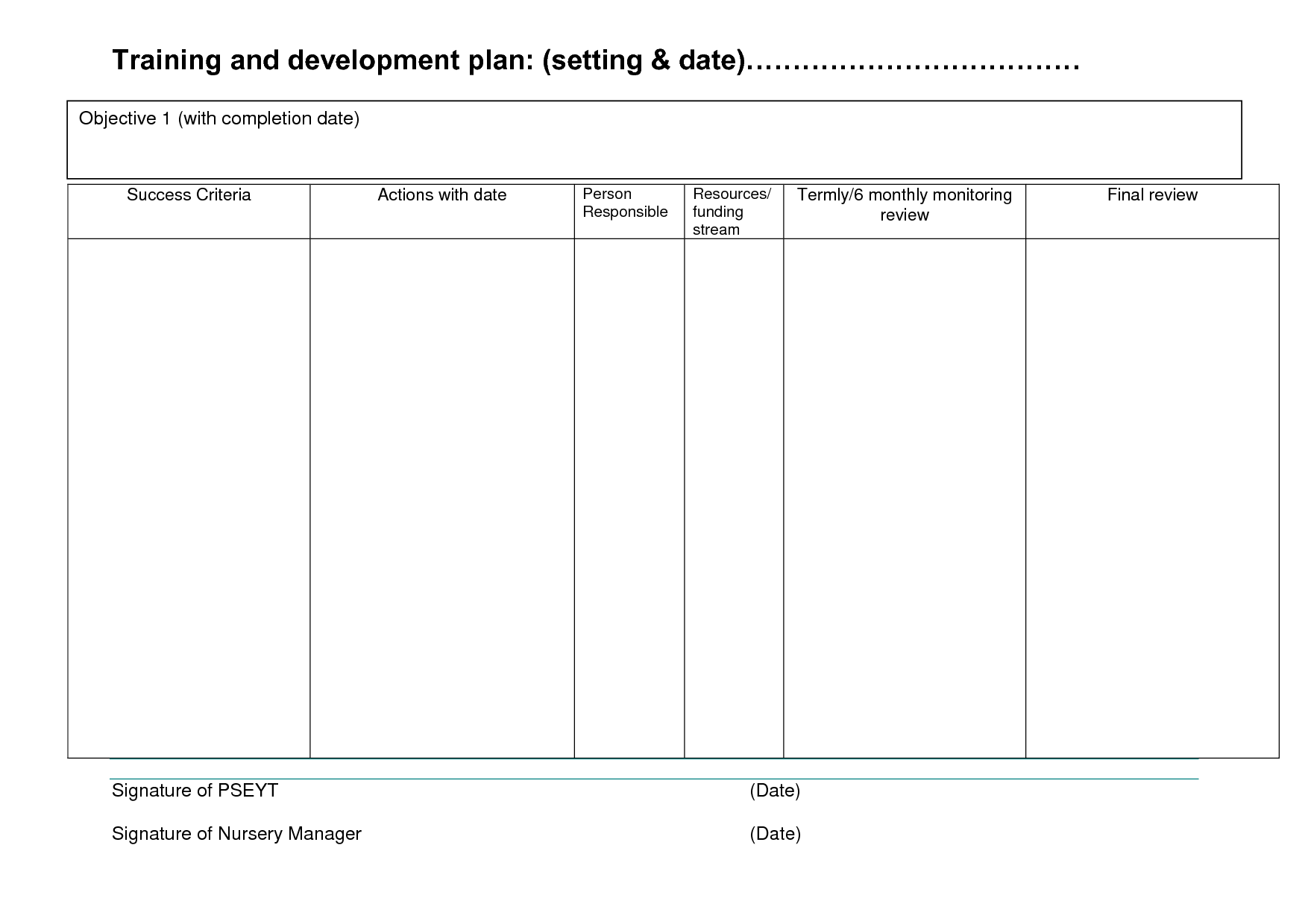 Goal Planning Worksheet Template