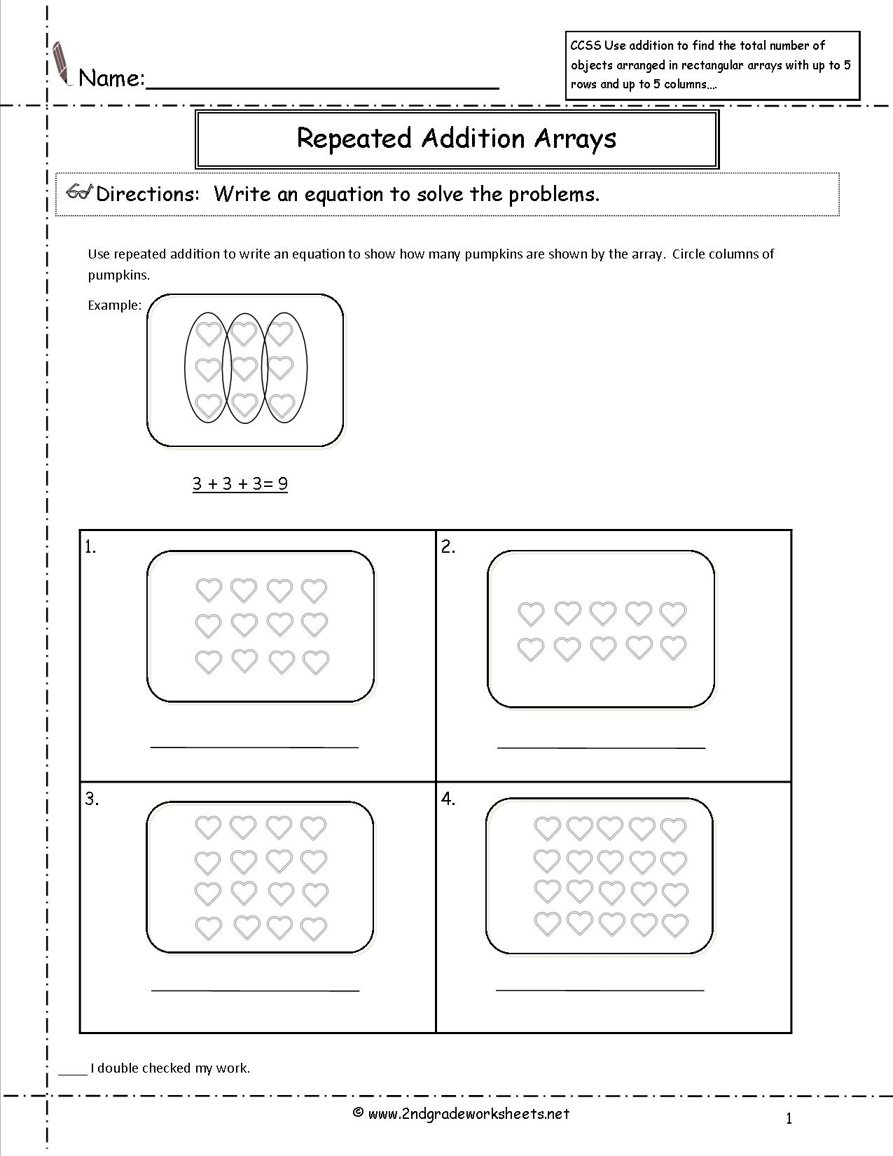 17 Best Images Of Repeated Addition Worksheets