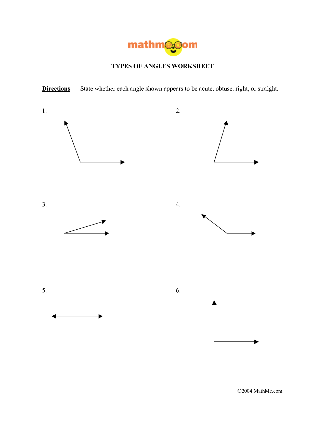 10 Best Images Of Acute Right Obtuse Angles Worksheet