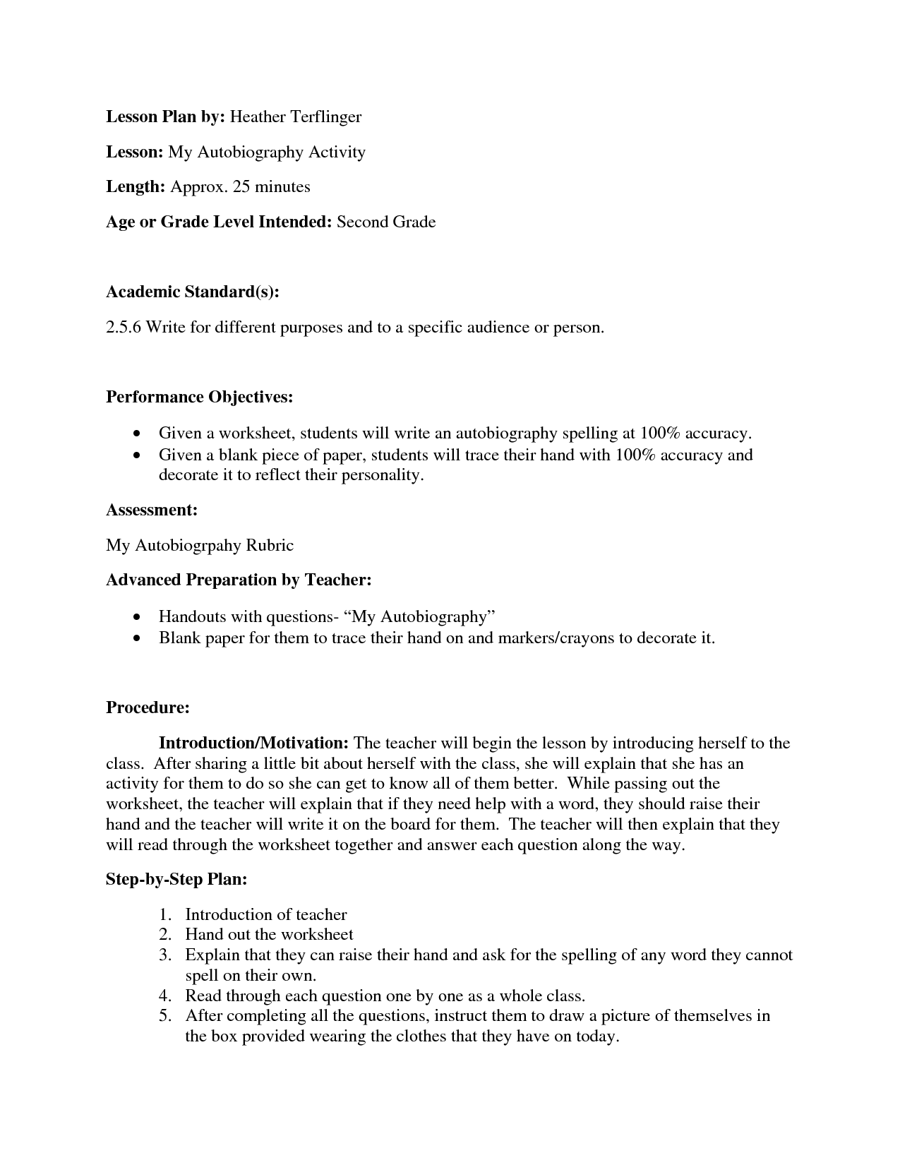 14 Best Images Of Autobiography Questions Worksheet
