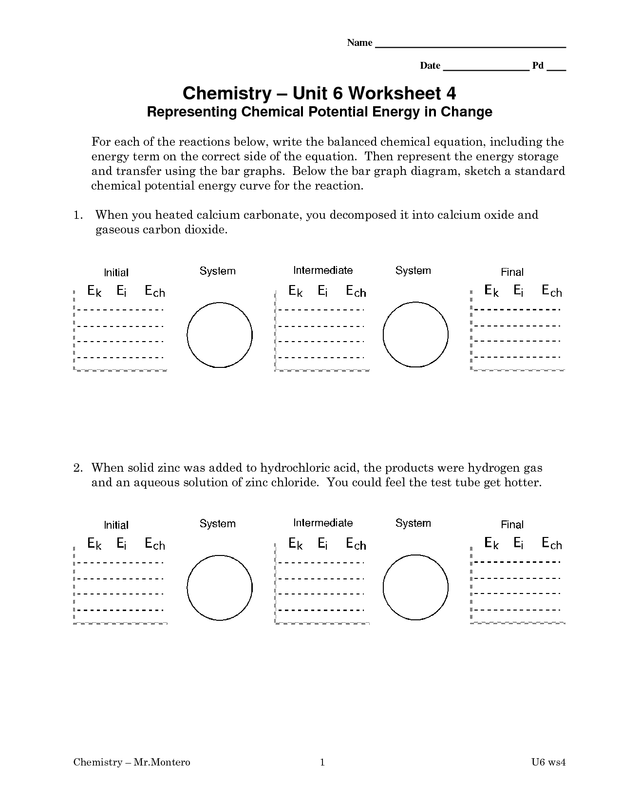 10 Best Images Of Potential Energy Worksheets