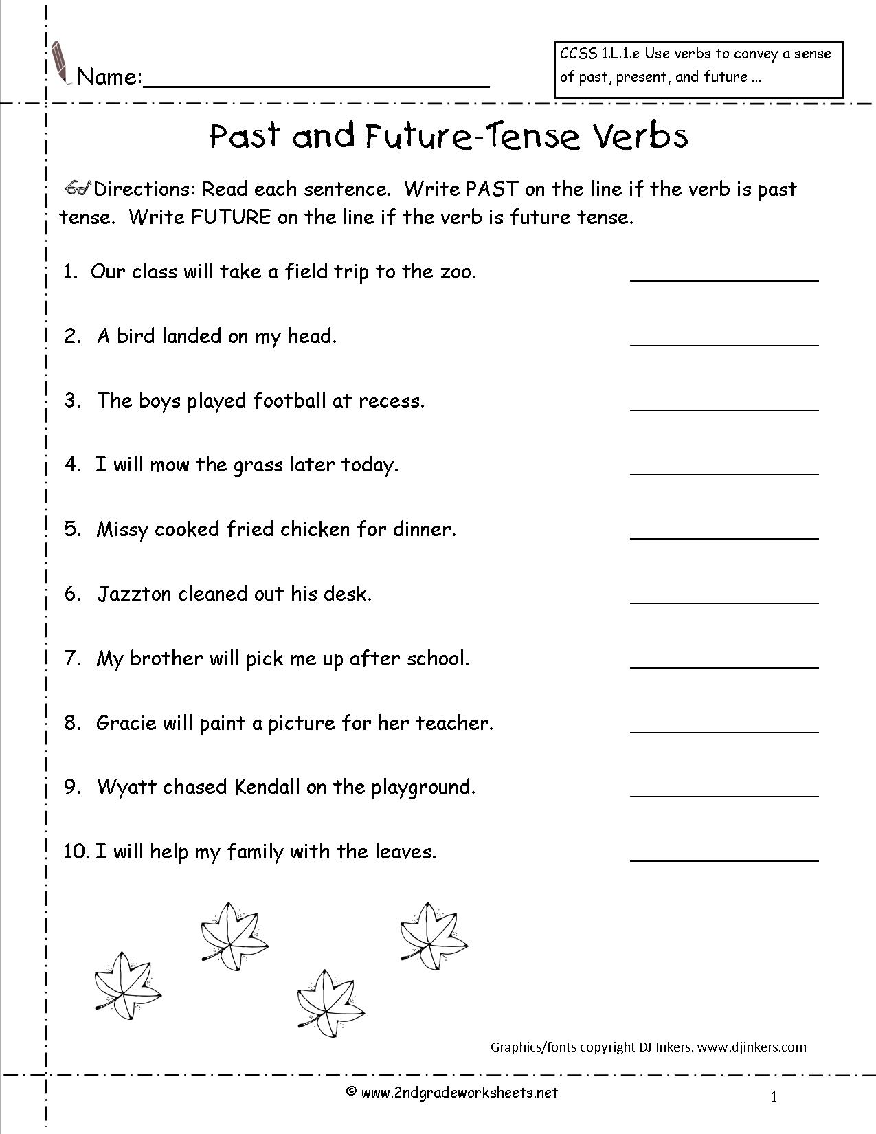 Future Tense Using Will Worksheets