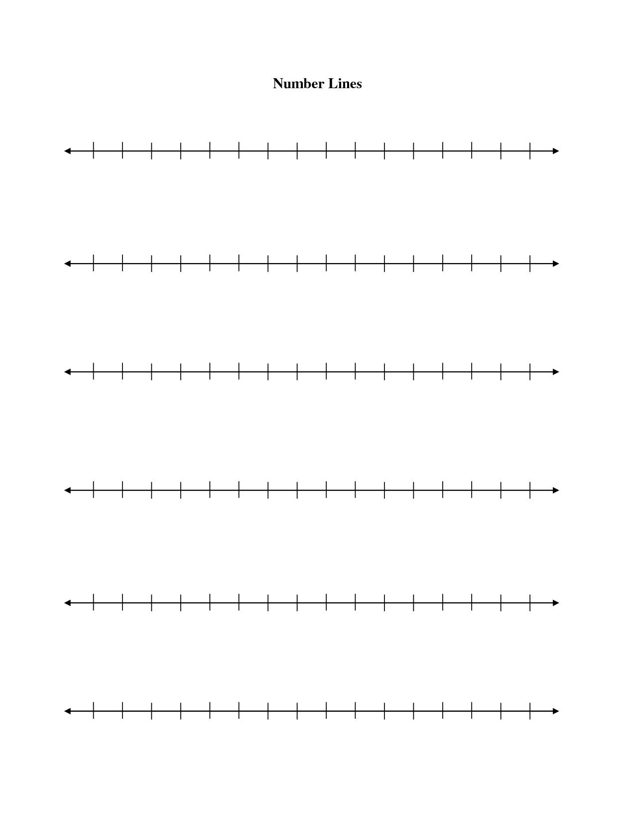 8 Best Images Of Free Number Line Worksheets