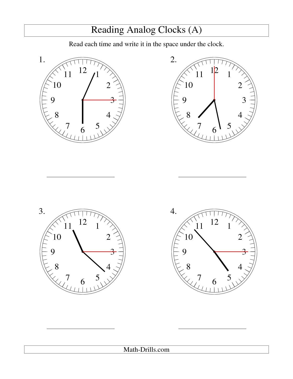 17 Best Images Ofog Clock Worksheets
