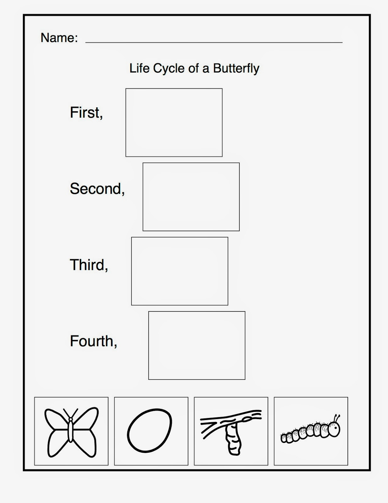 11 Best Images Of Cycle Of Butterfly Worksheets Preschool Kindergarten