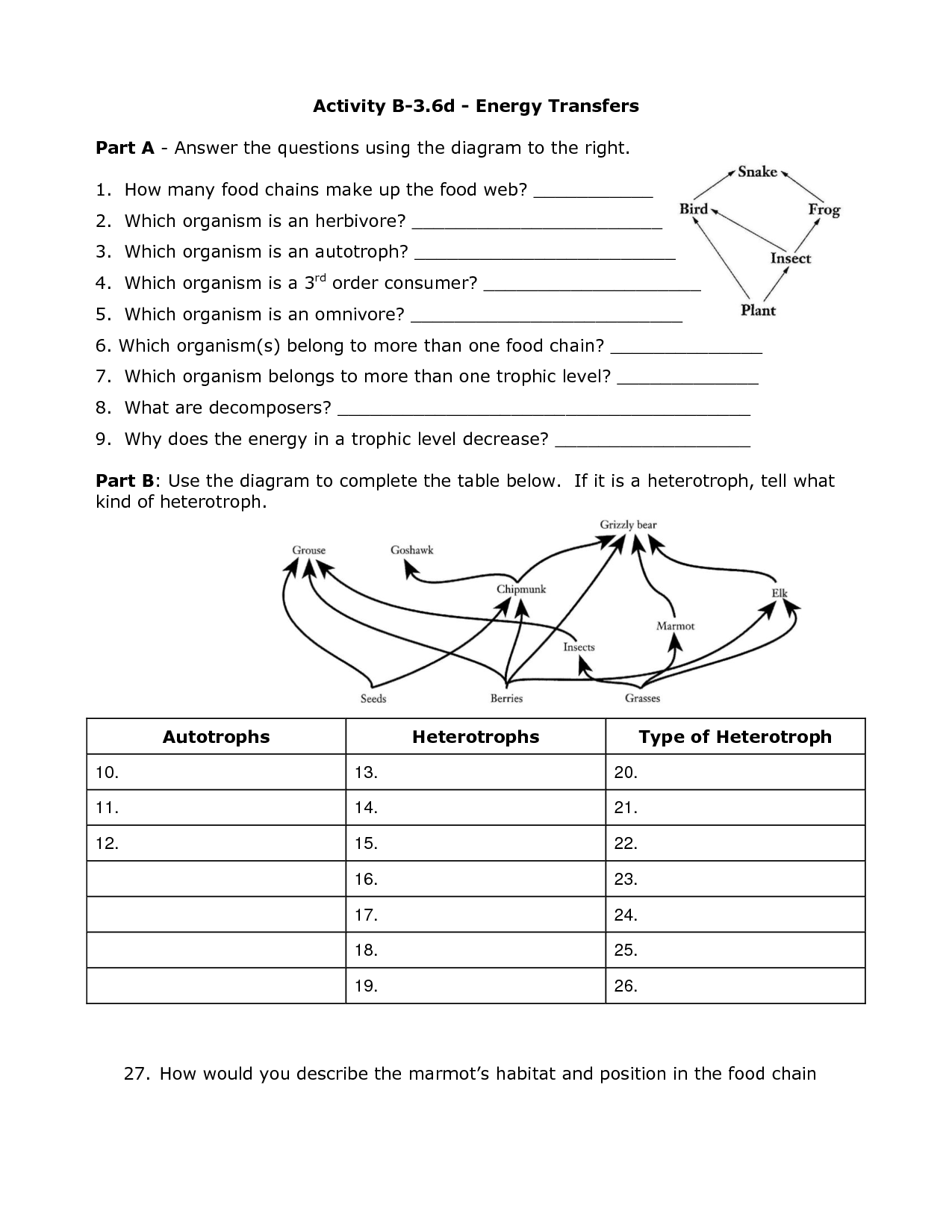 Heat Worksheets 6th